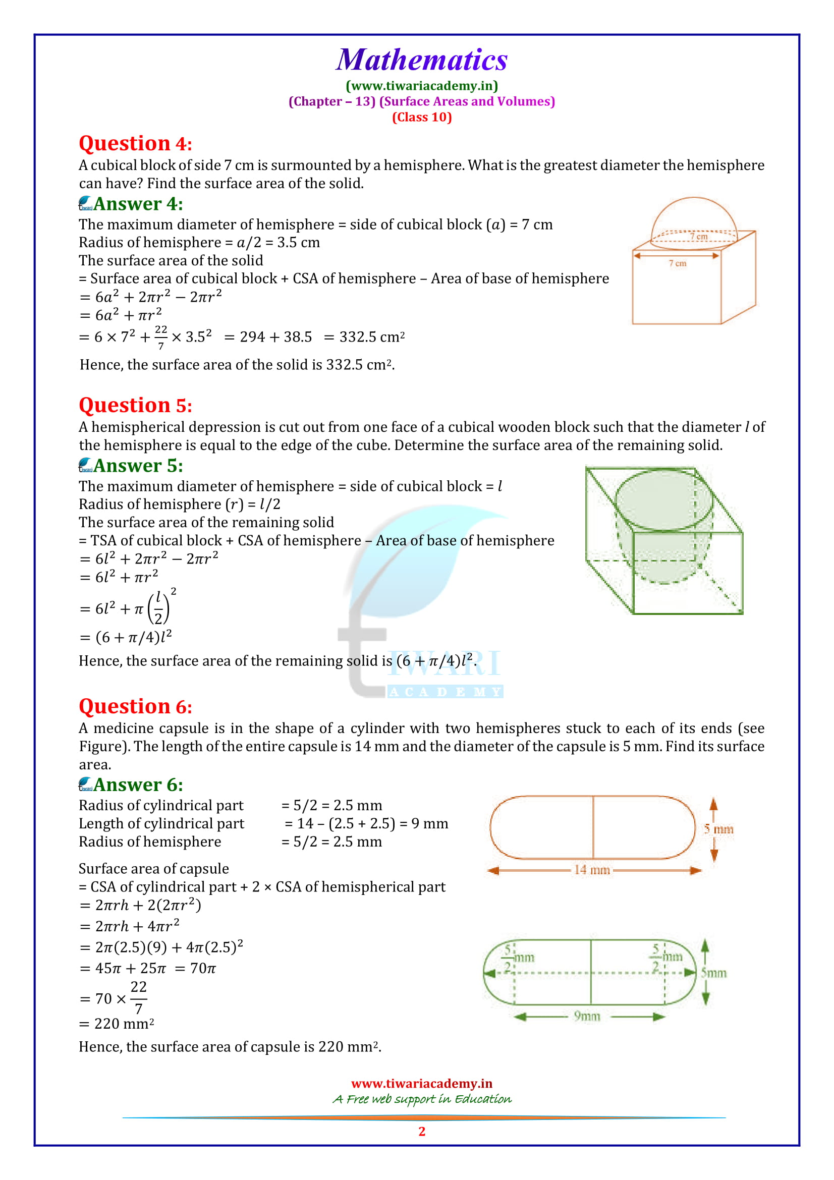 NCERT Solutions for Class 10 Maths Chapter 12 Exercise 13.1 question 1, 2,, 3, 4, 5, 6, 7, 8