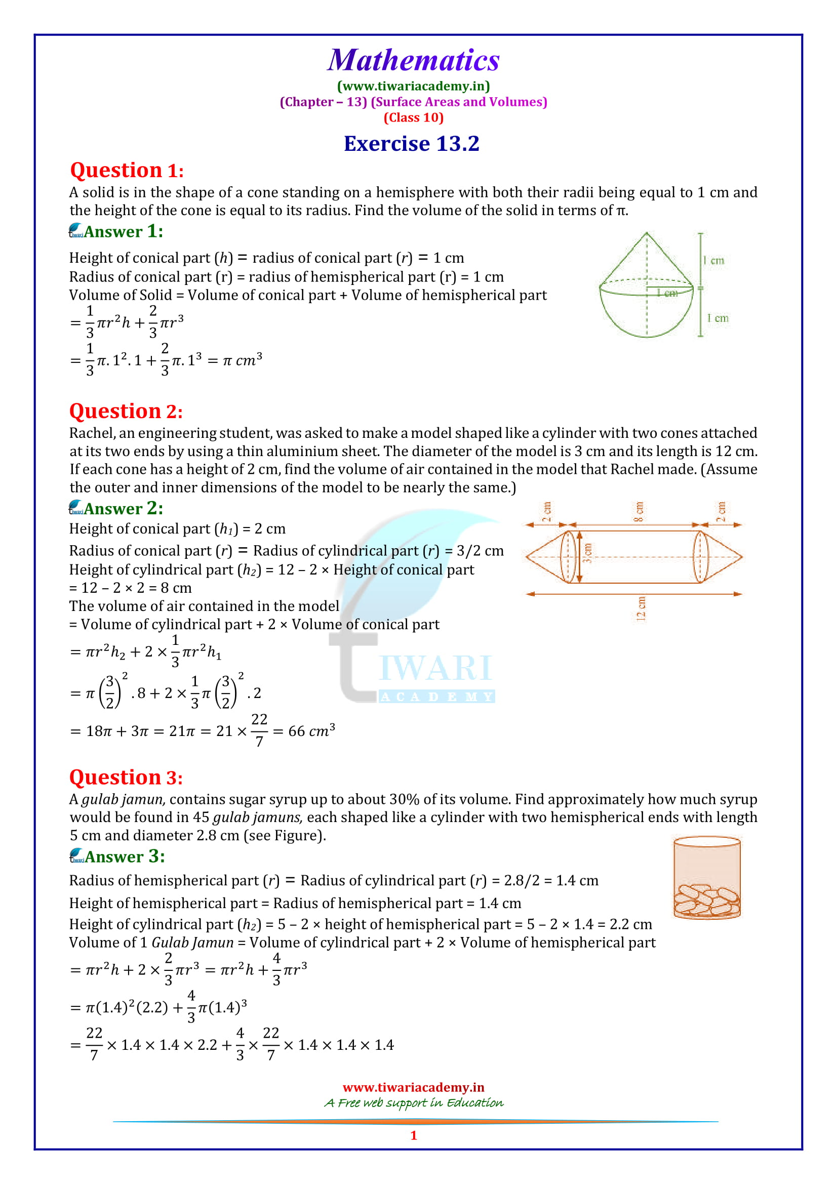 NCERT Solutions for Class 10 Maths Chapter 13 Exercise 13.2 in english medium