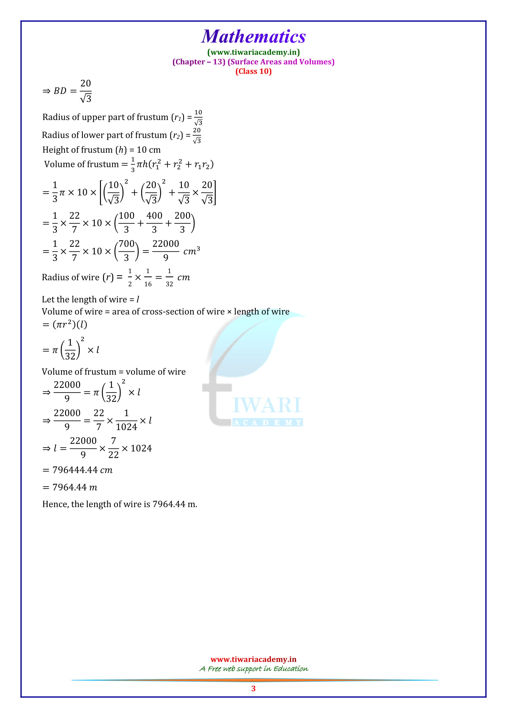NCERT Solutions for class 10 Maths Exercise 13.4 for up and mp board students
