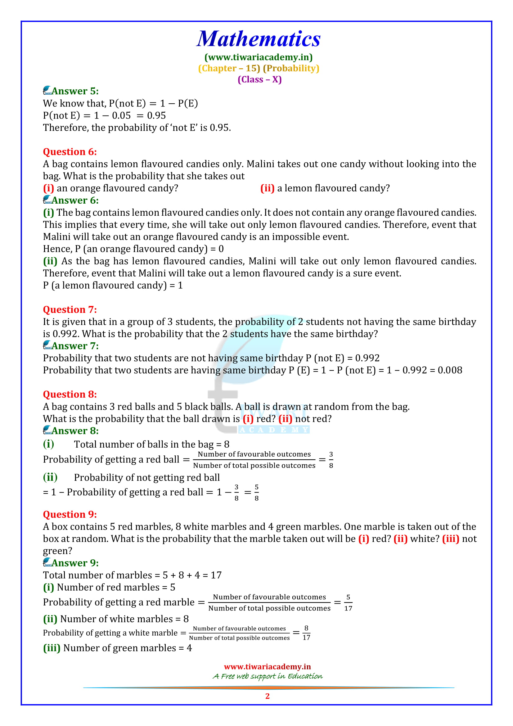 NCERT Solutions for Class 10 Maths Chapter 15 Exercise 15.1 in English medium