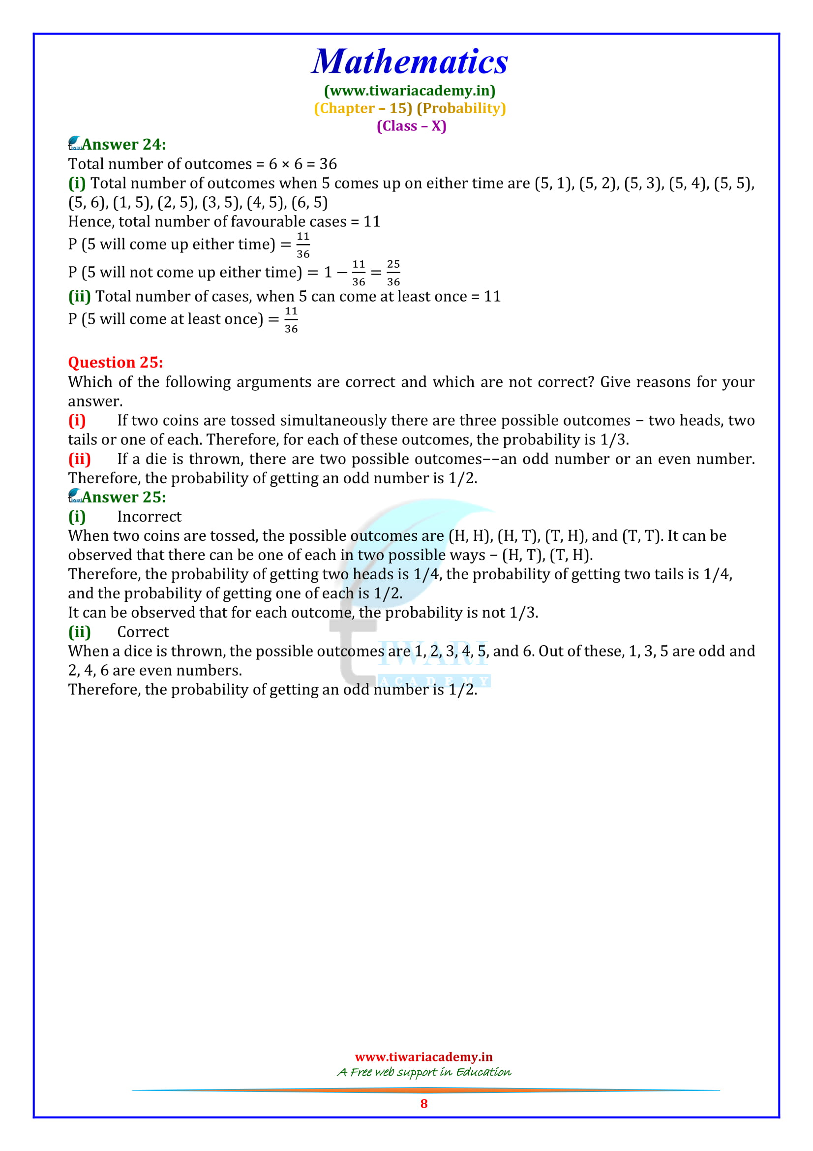 NCERT Solutions for Class 10 Maths Exercise 15.1 free to download