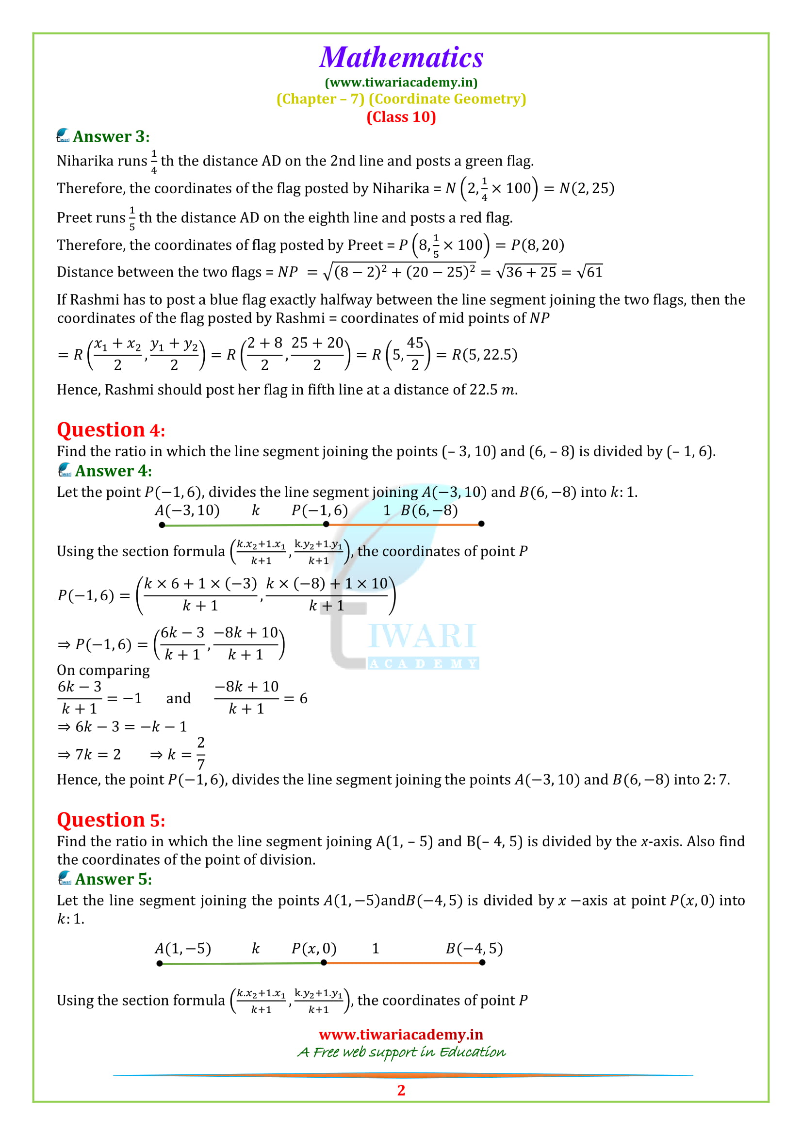 NCERT Solutions for class 10 Maths Exercise 7.2 updated for 2018-19