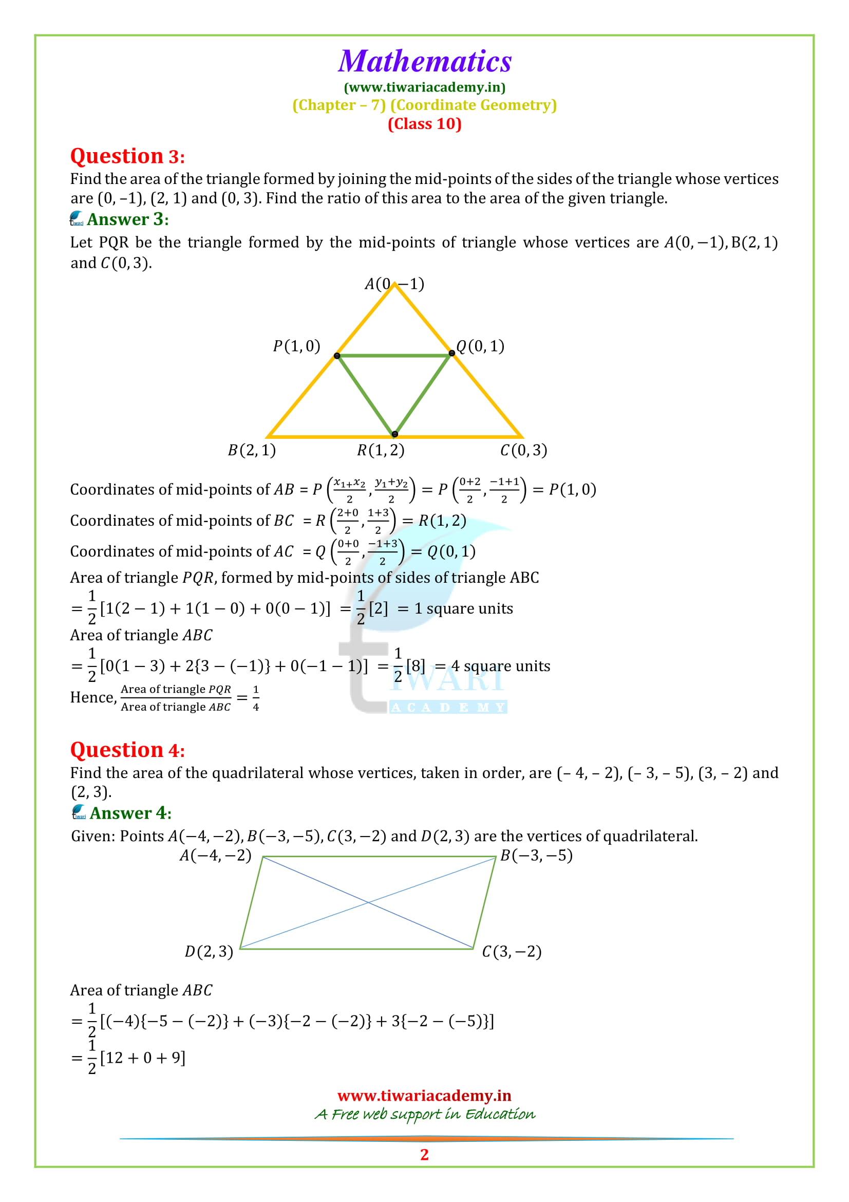 NCERT Solutions for class 10 Maths Exercise 7.3 updated for 2018-19