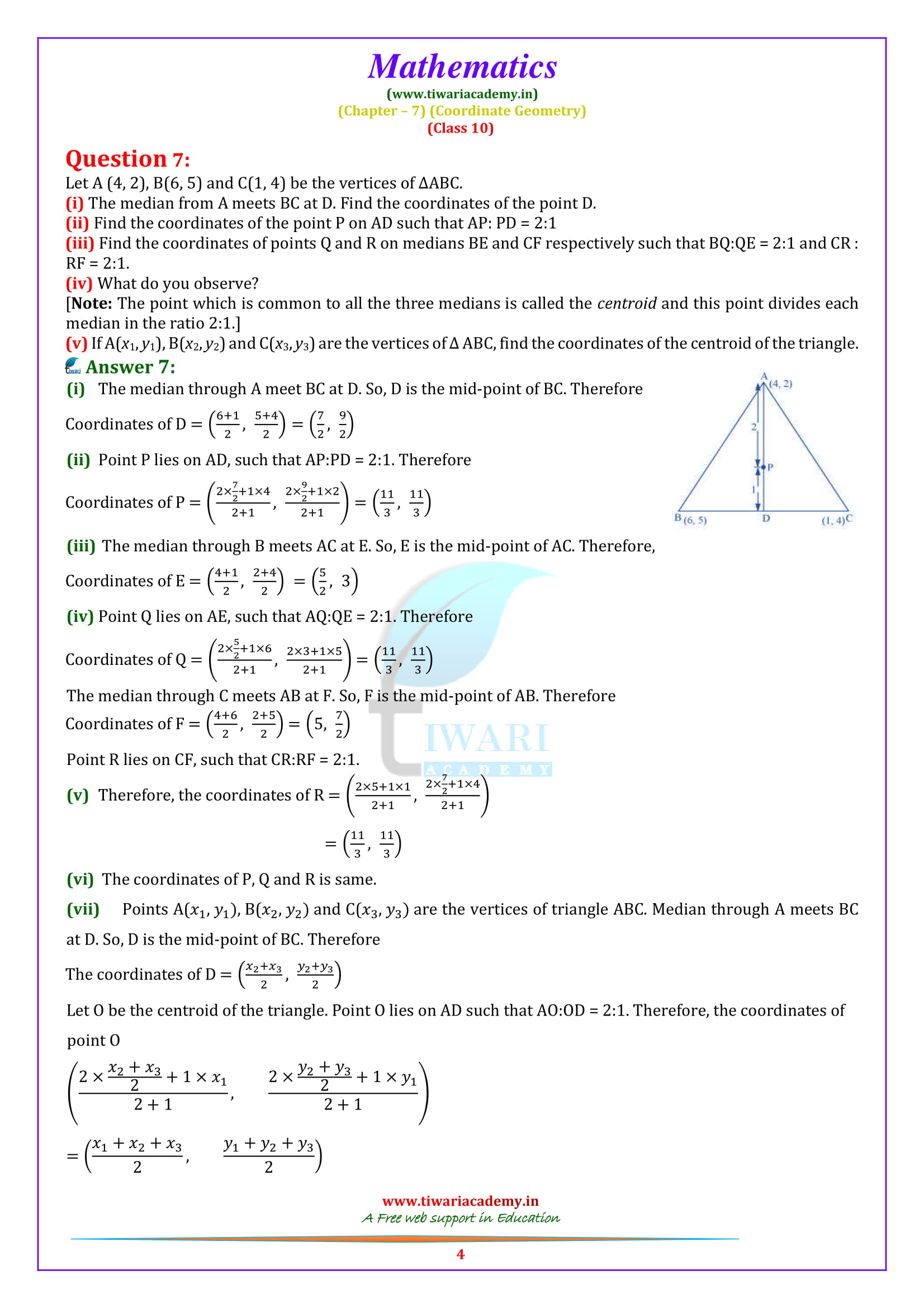NCERT Solutions for class 10 Maths Exercise 7.4 updated form for 2019 exams