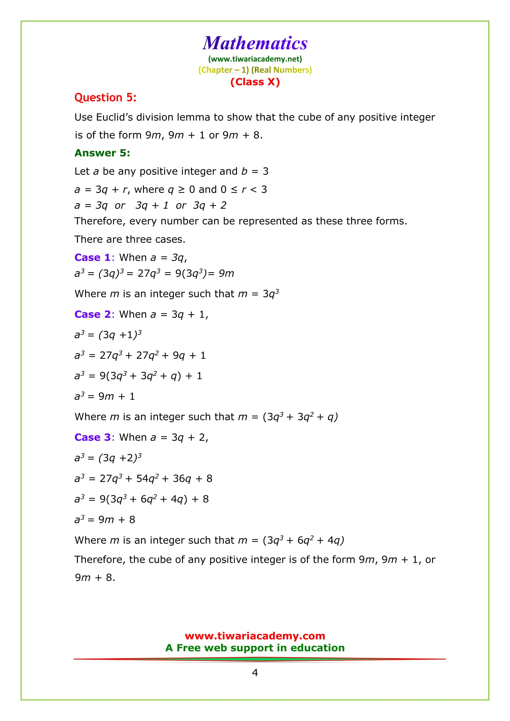 NCERT Solutions for Class 10 Maths Chapter 1 Exercise 1.1 Question 5