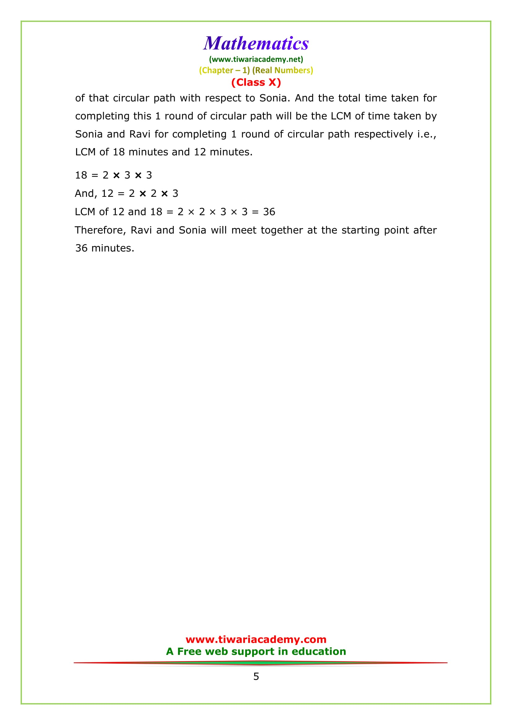 NCERT Solutions for class 10 maths chapter 1 exercise 1.2 Question 7
