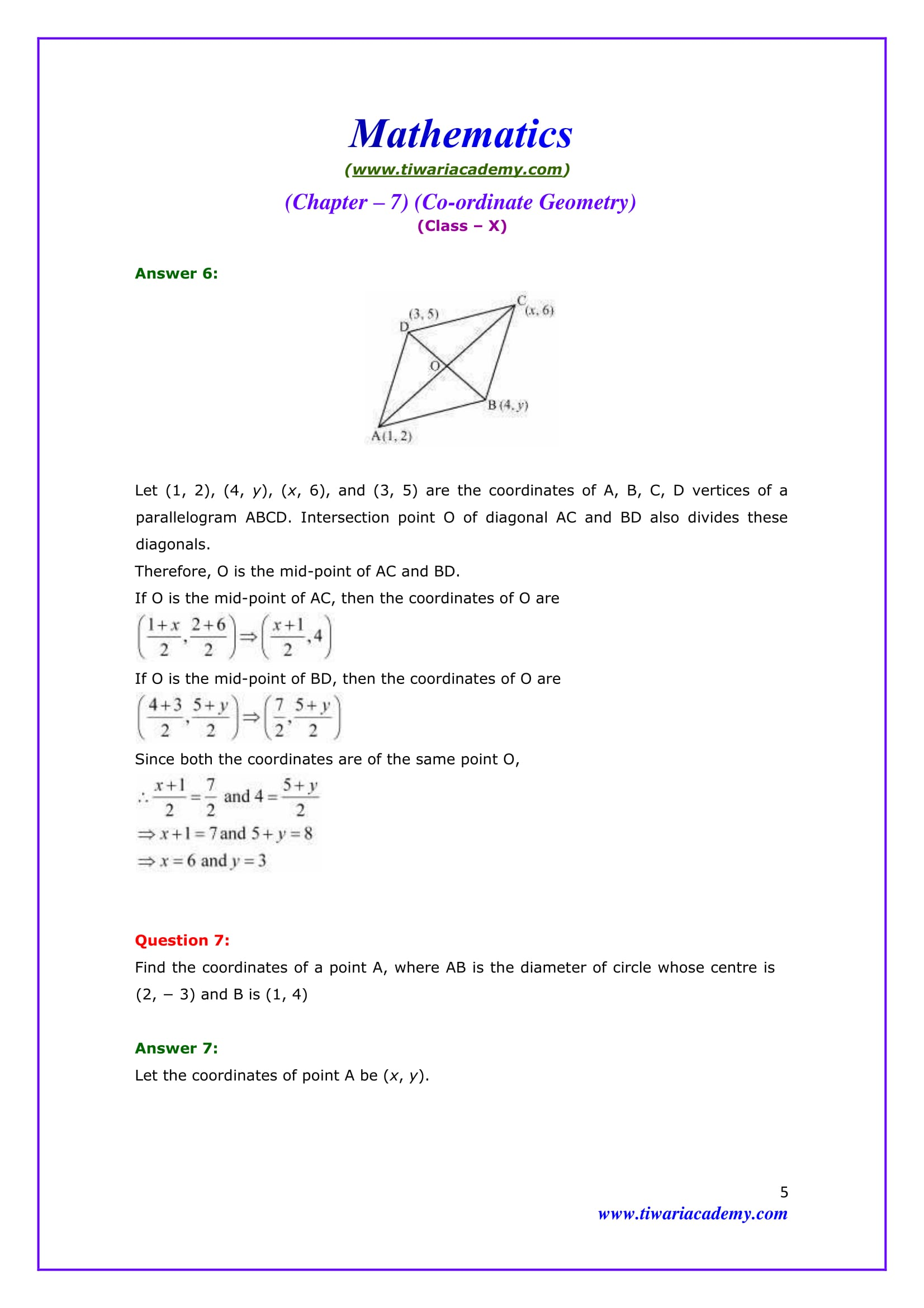 Premise Indicator Words: NCERT Solutions For Class 10 Maths Chapter 7 Exercise 7.2