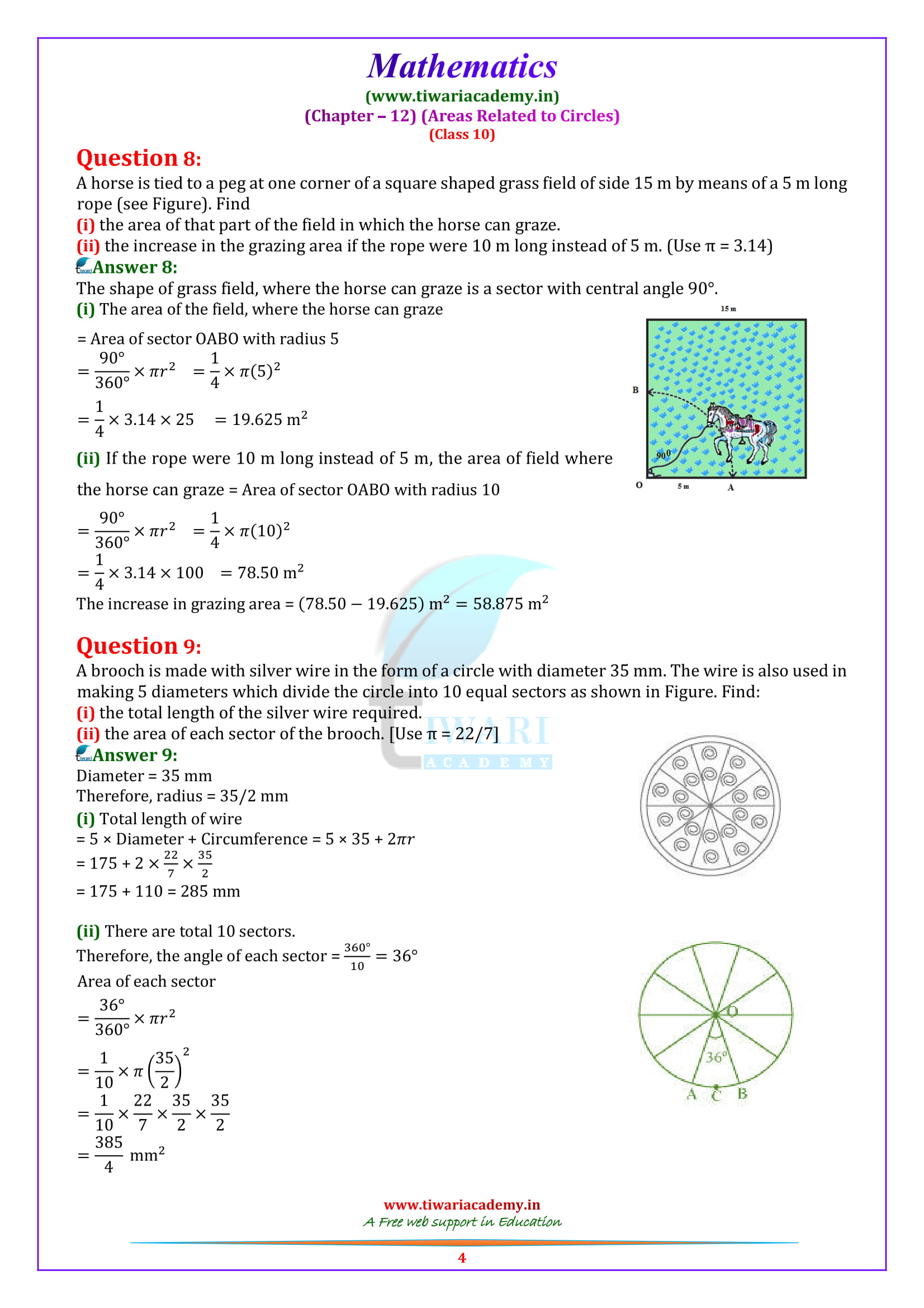 NCERT Solutions for class 10 Maths Exercise 12.2 download in pdf