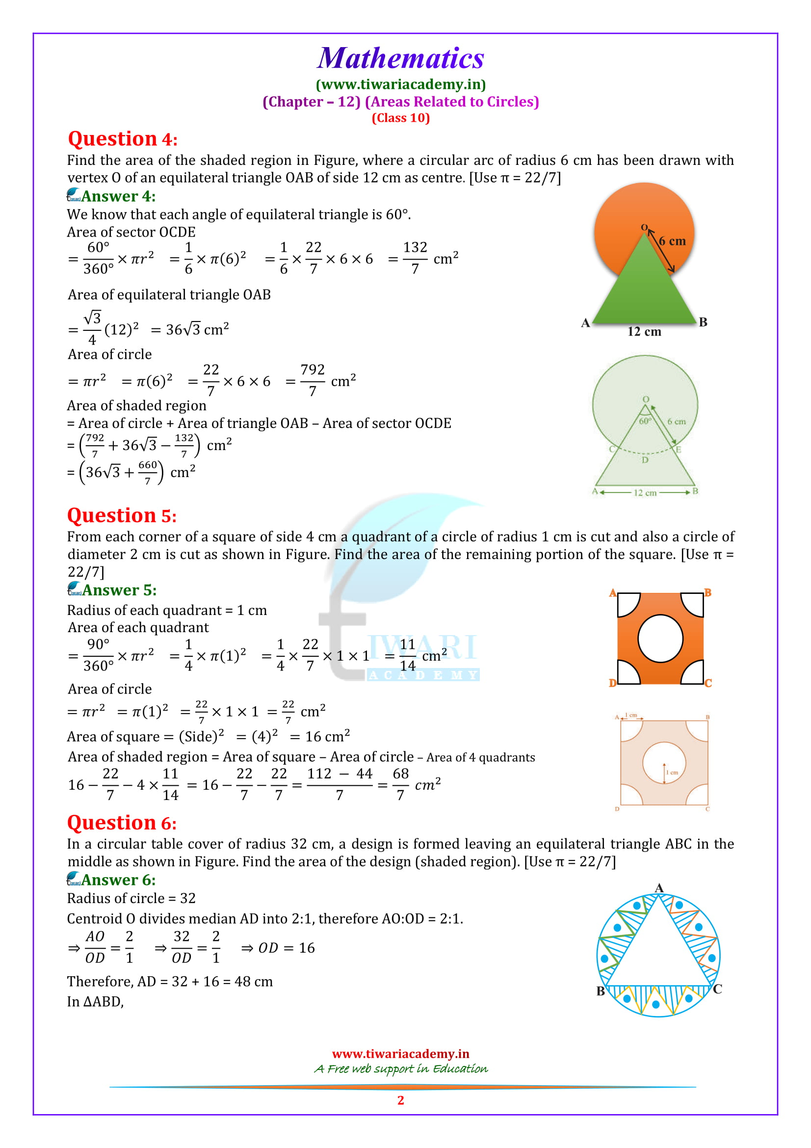 NCERT Solutions for class 10 Maths exercise 12.3 updated for 2018-19