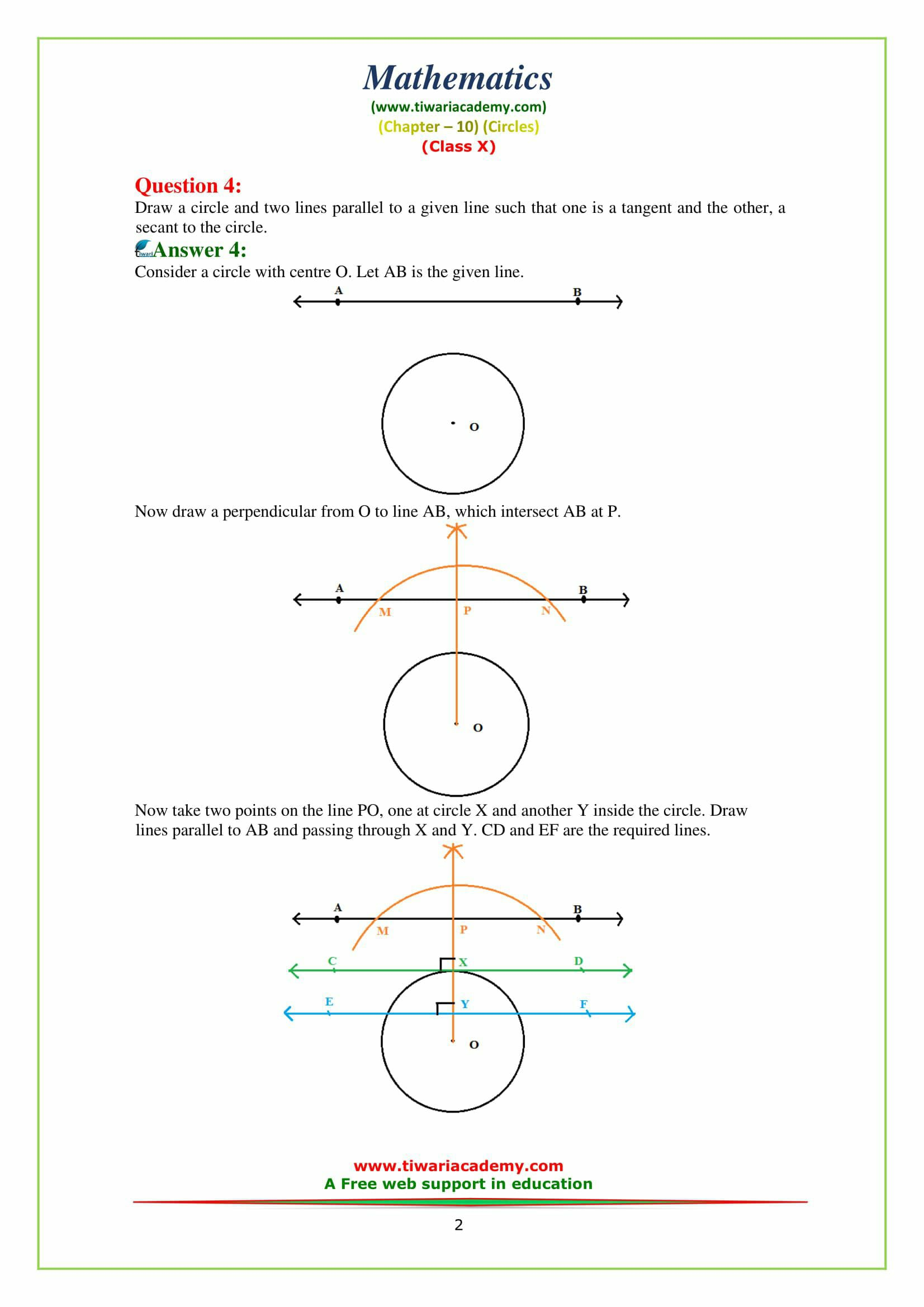 NCERT Solutions for Class 10 Maths Chapter 10 Exercise 10.1 Question 4