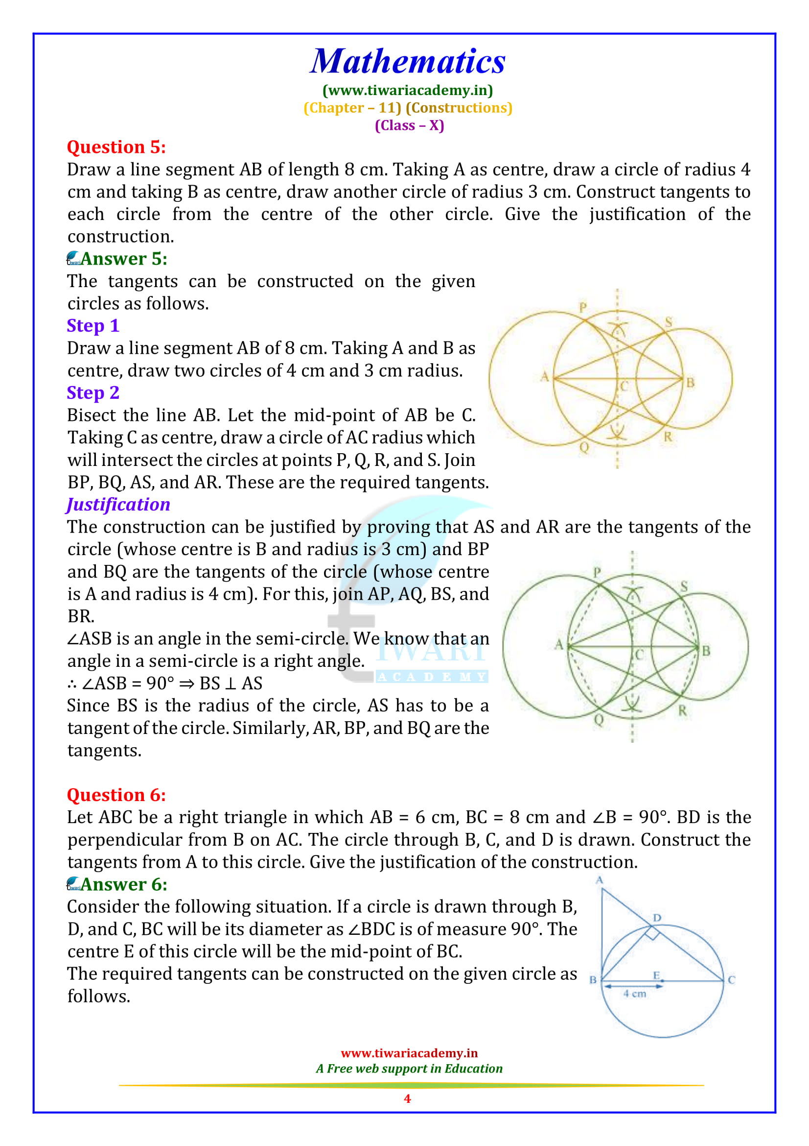 NCERT Solutions for Class 10 Maths Chapter 11 Exercise 11.2 Constructions updated 2019