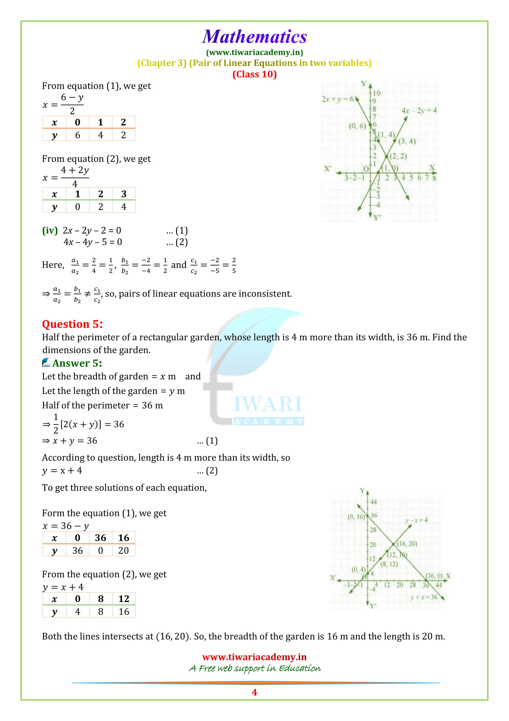 Class 10 Maths Chapter 3 Exercise 3.2 solutions for all board 2018-2019 new