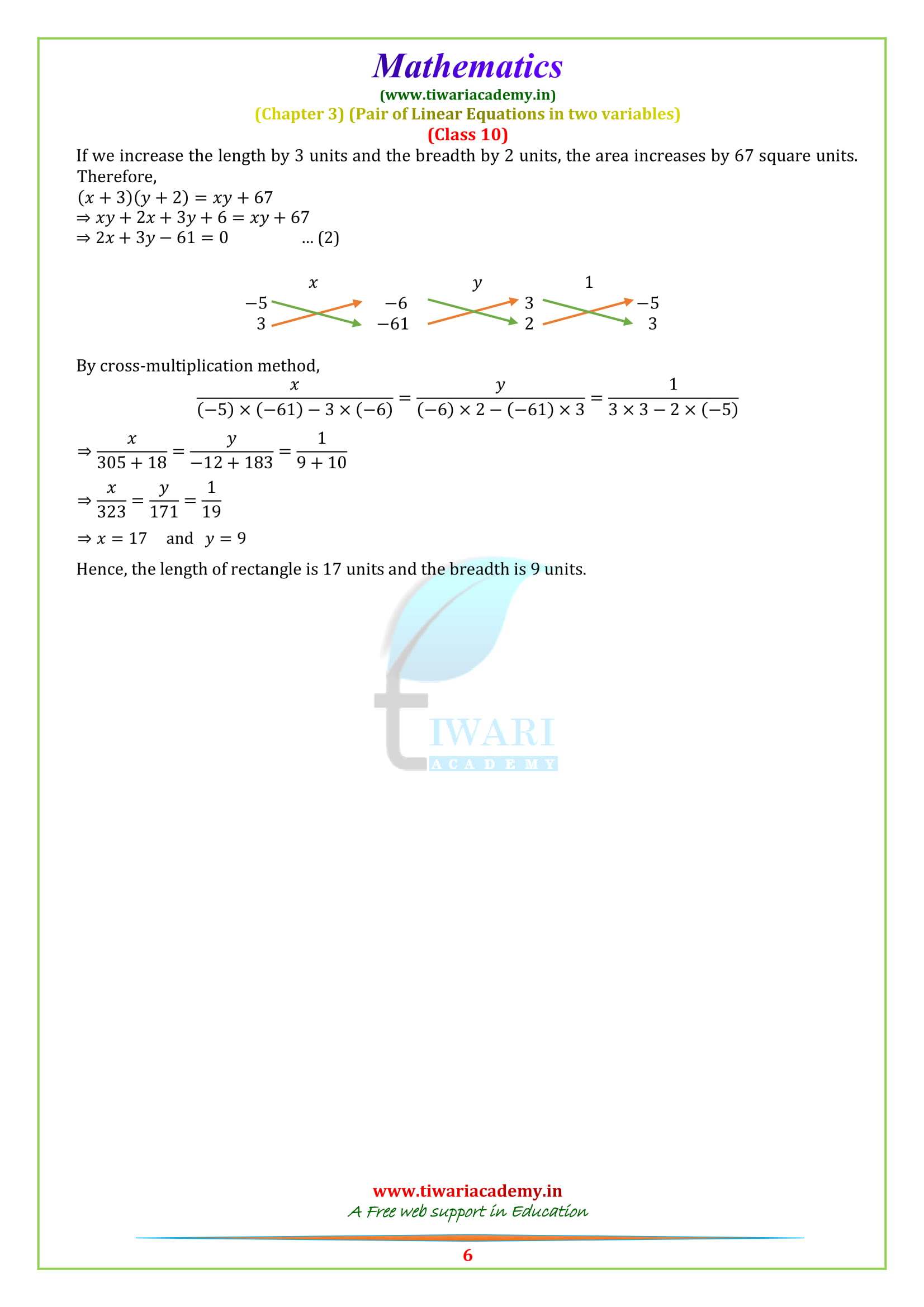 NCERT Solutions for Class 10 Maths Chapter 3 Exercise 3.5 for cbse, up board, mp board, bihar and uttarakhand.