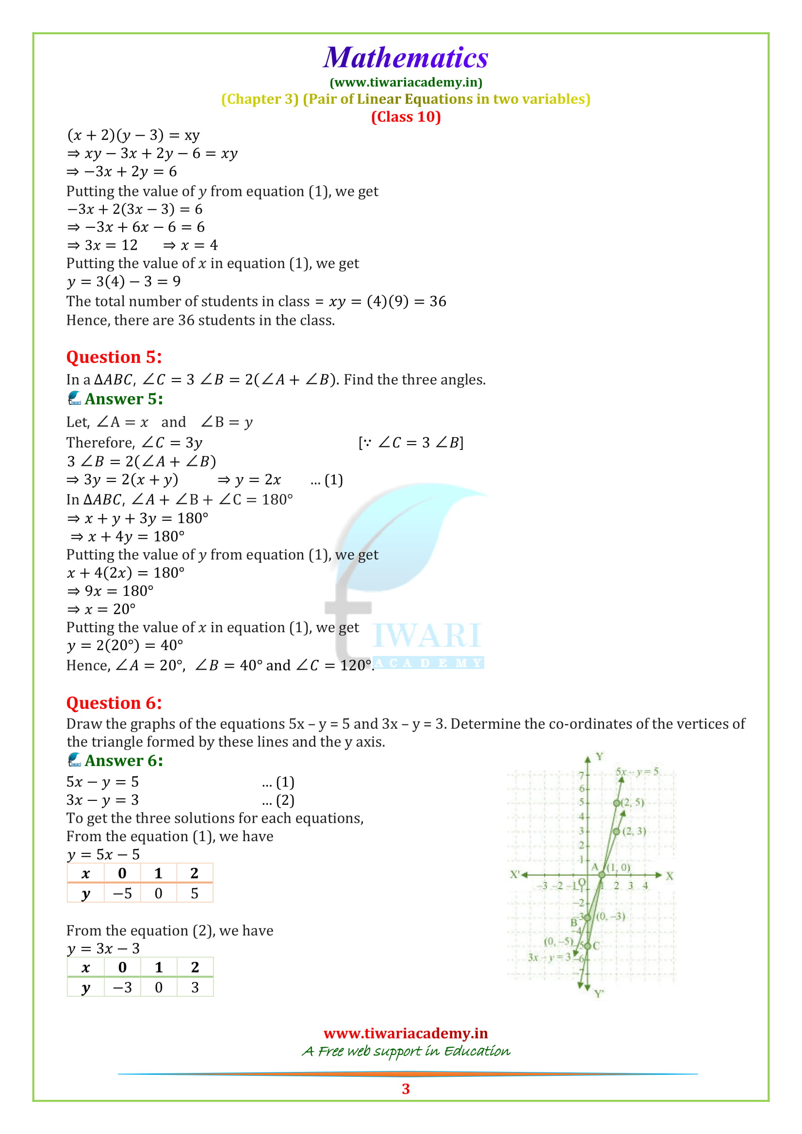 10 Maths optional exercise 3.7 solutions updated for 2018-19