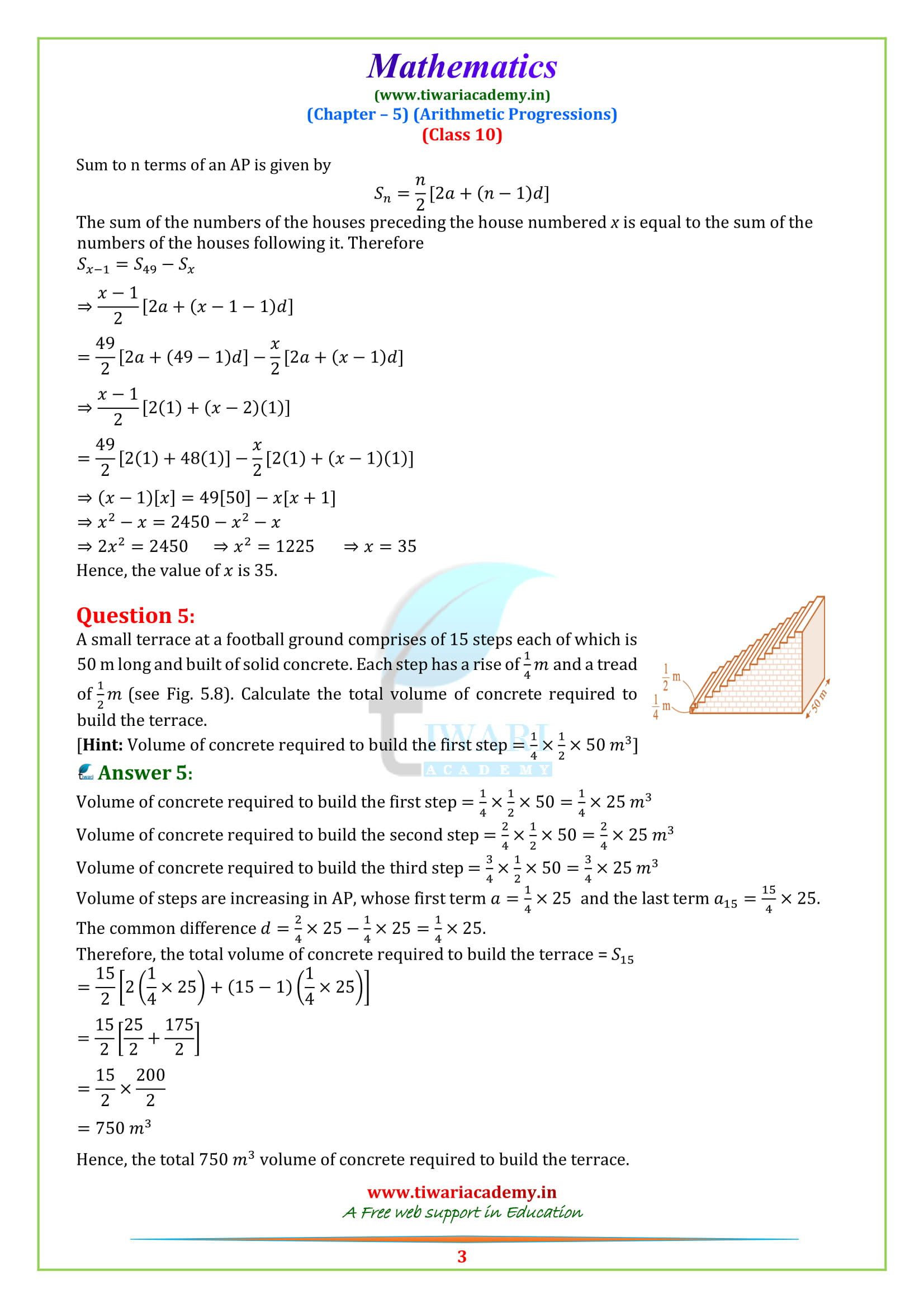 NCERT Solutions for class 10 maths Exercise 5.4 updated for all boards