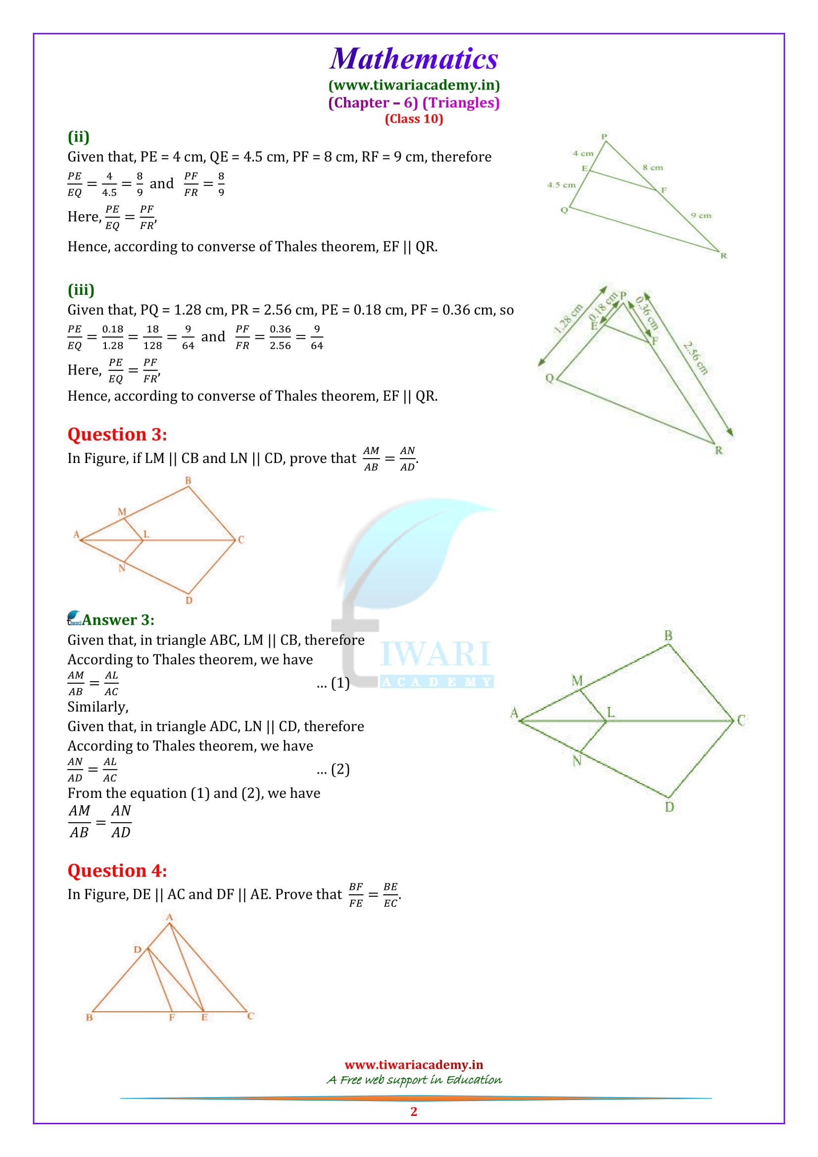 10 Maths Exercise 6.2 Solutions updated for 2018-19.