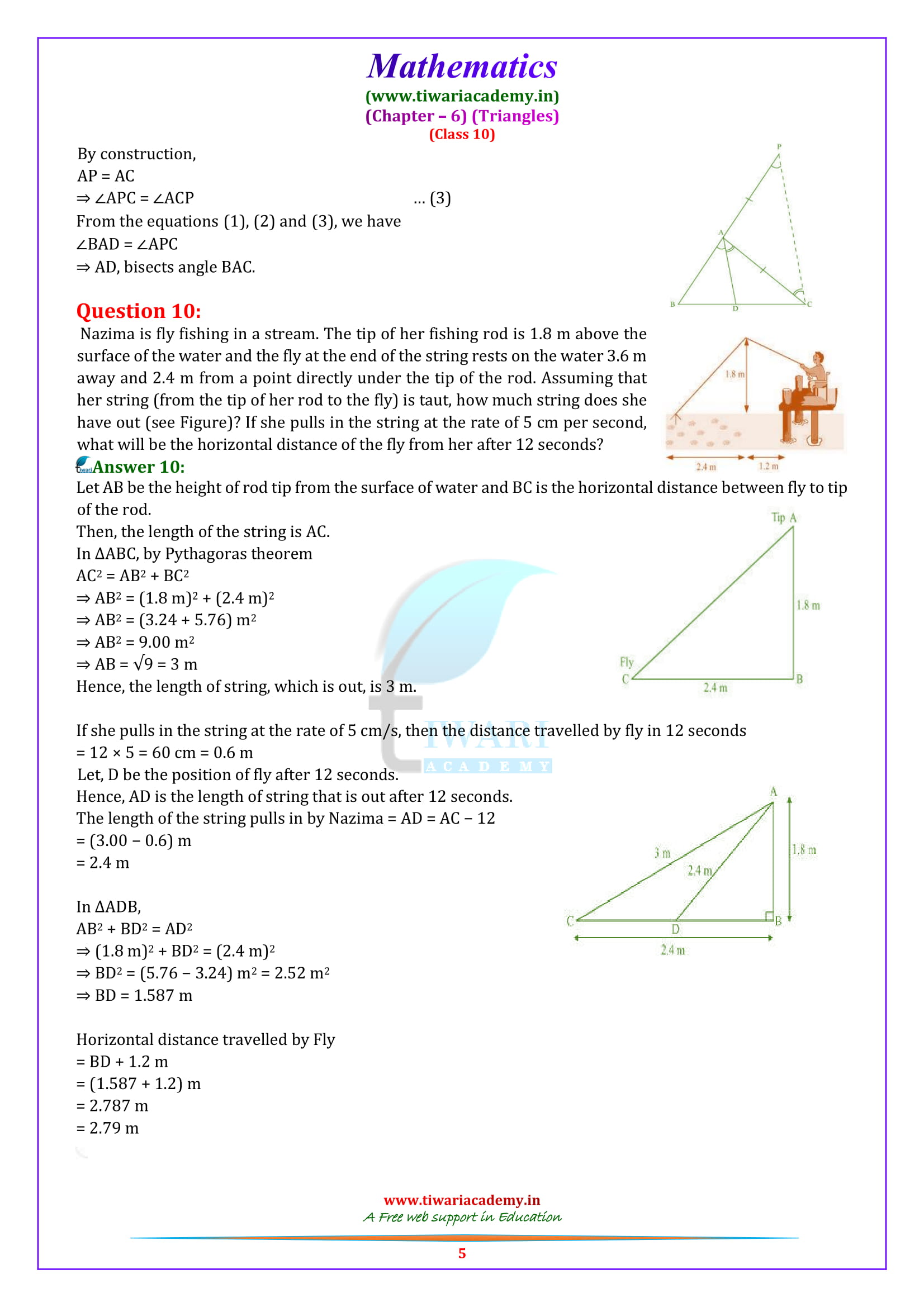 10 Maths optional Exercise 6.6 solutions all questions