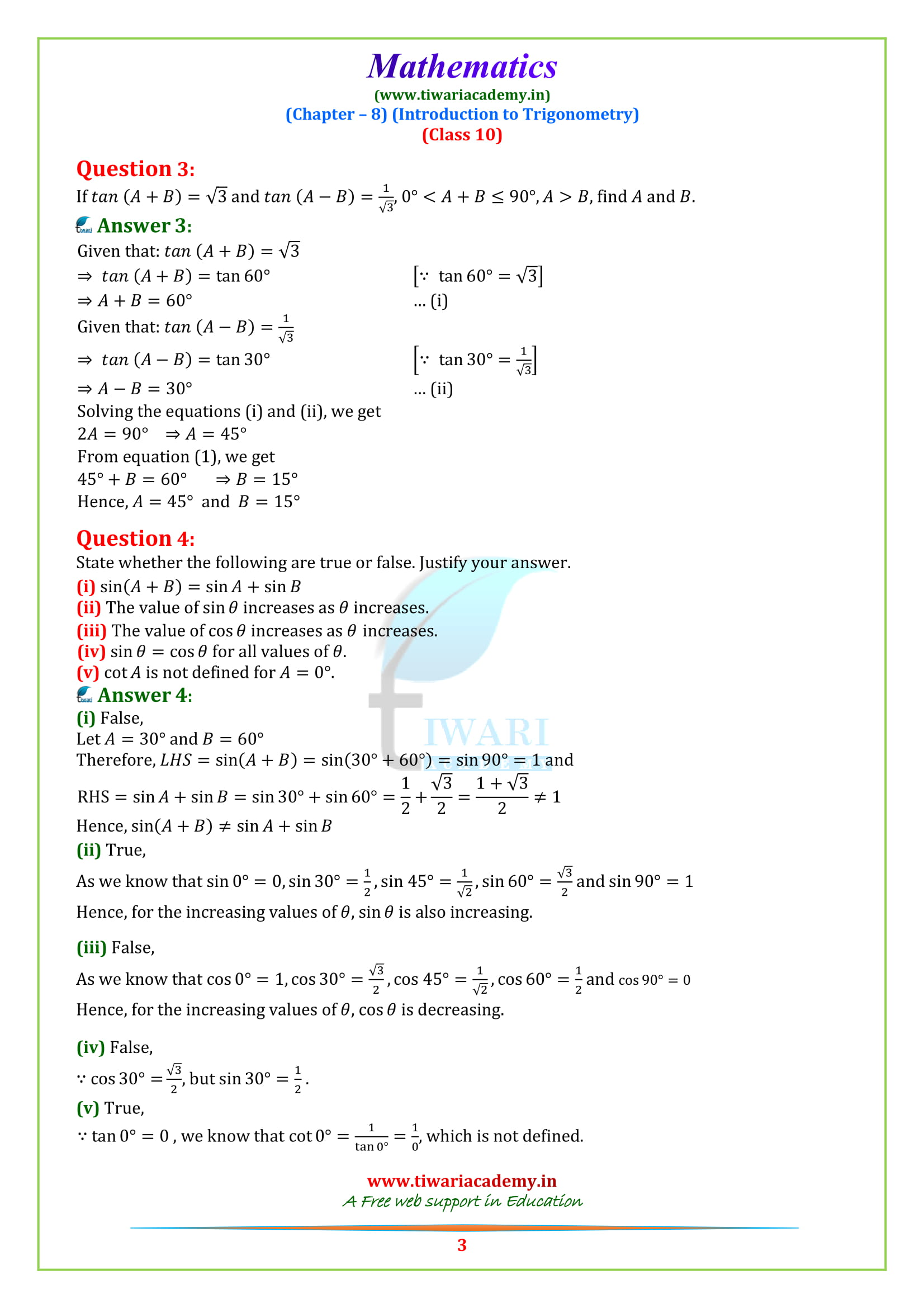 NCERT Solutions for Class 10 Maths Chapter 8 Exercise 8.2 in pdf form to download