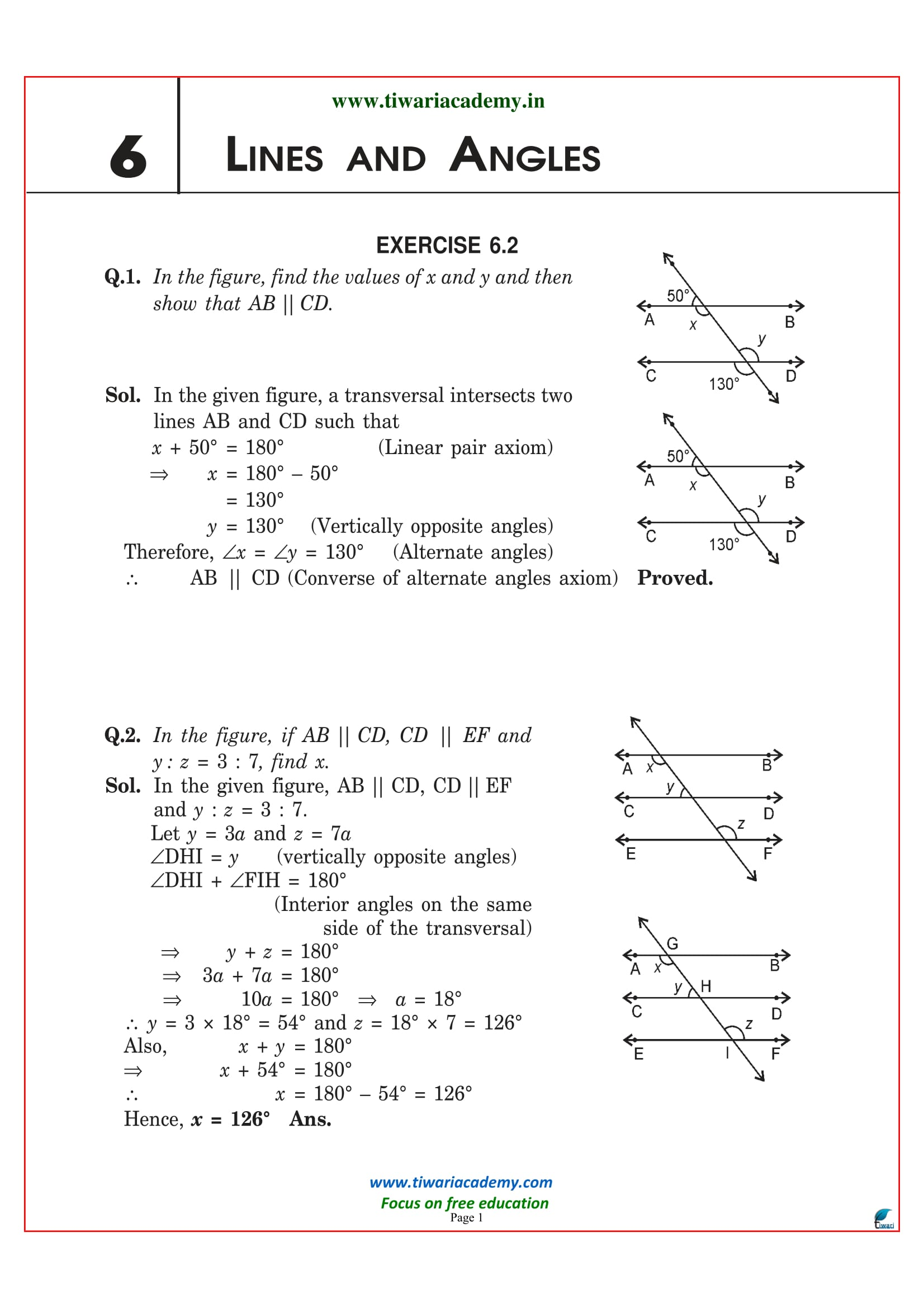 NCERT Solutions for Class 9 Maths Chapter 6 Exercise 6.2
