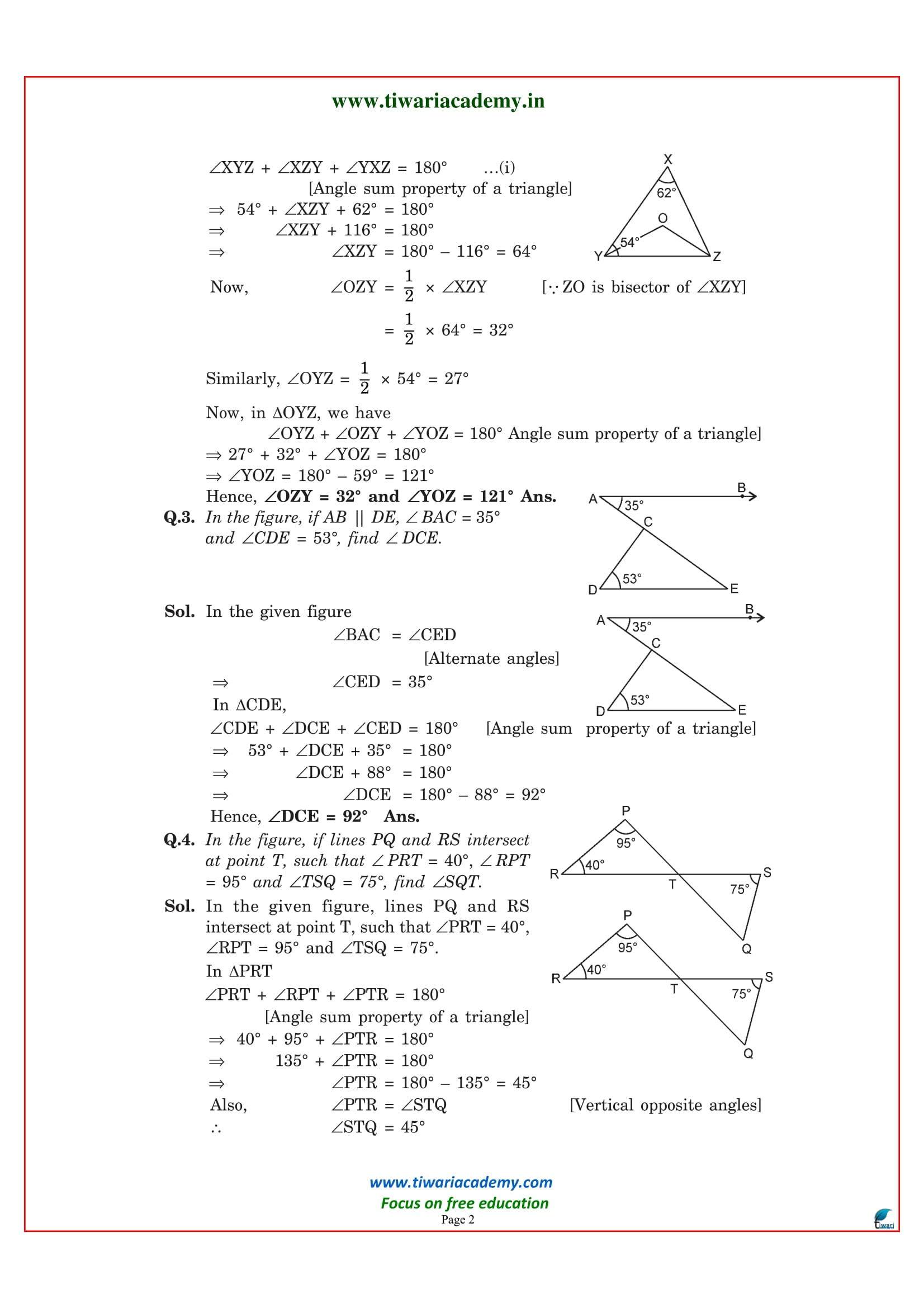 Class 9 maths exercise 6.3 PDF