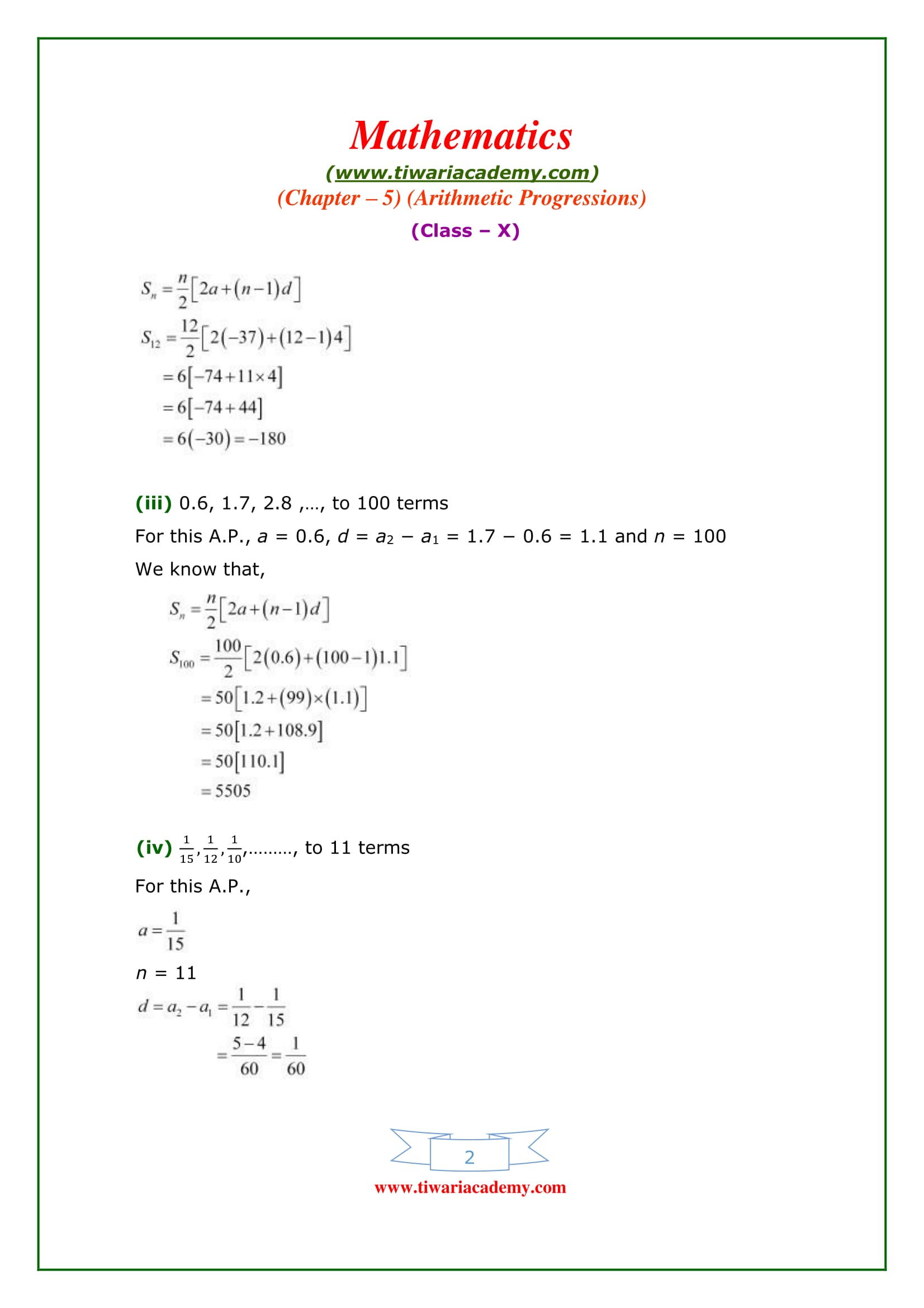 Premise Indicator Words: NCERT Solutions For Class 10 Maths Chapter 5 Exercise 5.3