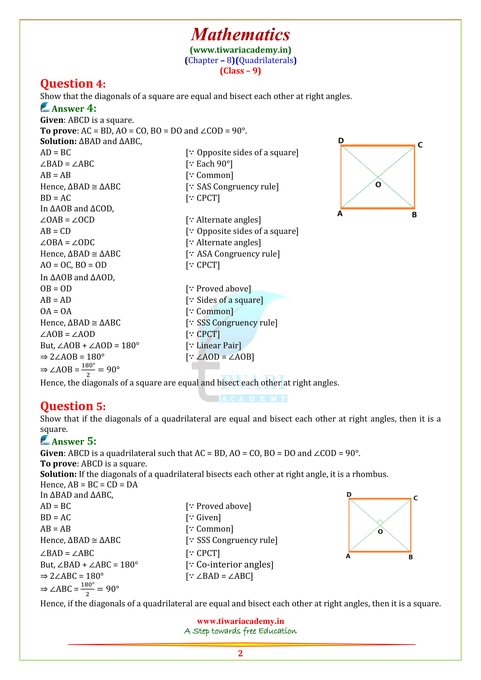 NCERT Solutions for class 9 Maths Exercise 8.1 updated for cbse and up board 2018-19