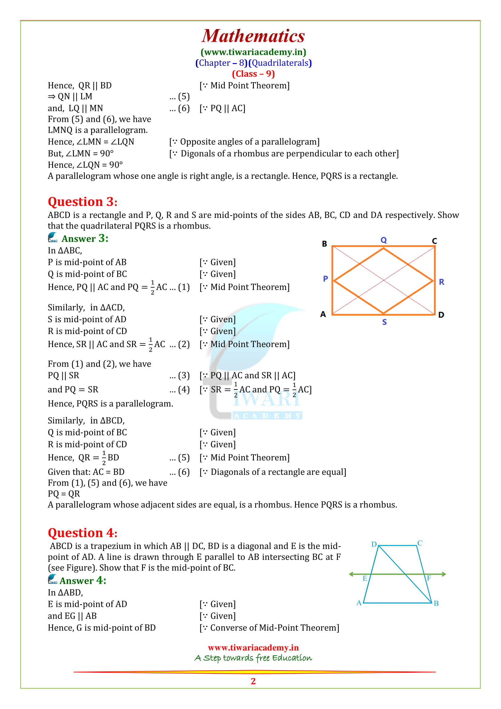 9 Maths exercise 8.2 sols updated on new syllabus 2018-19