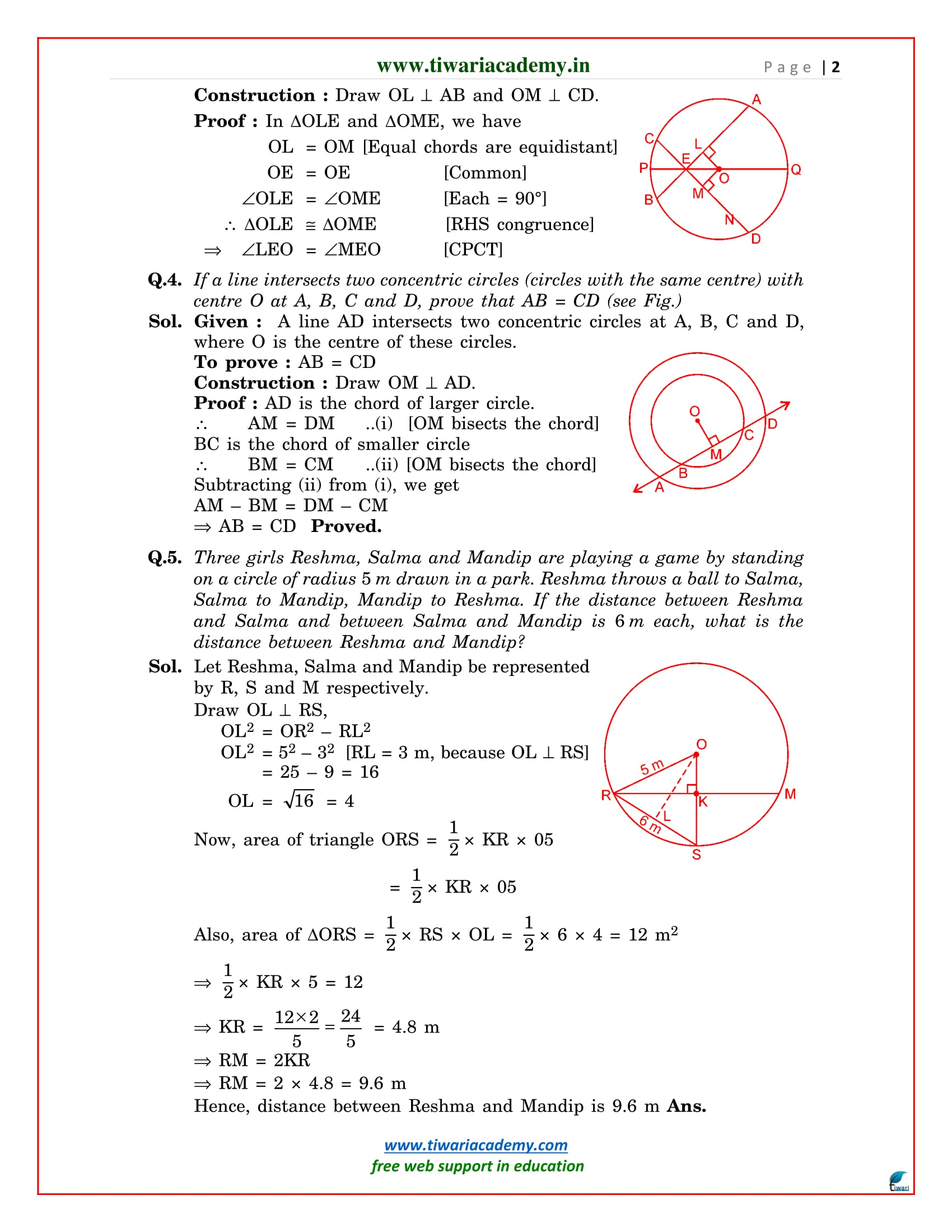 class 9 maths chapter 10 exercise 10.4 solutions