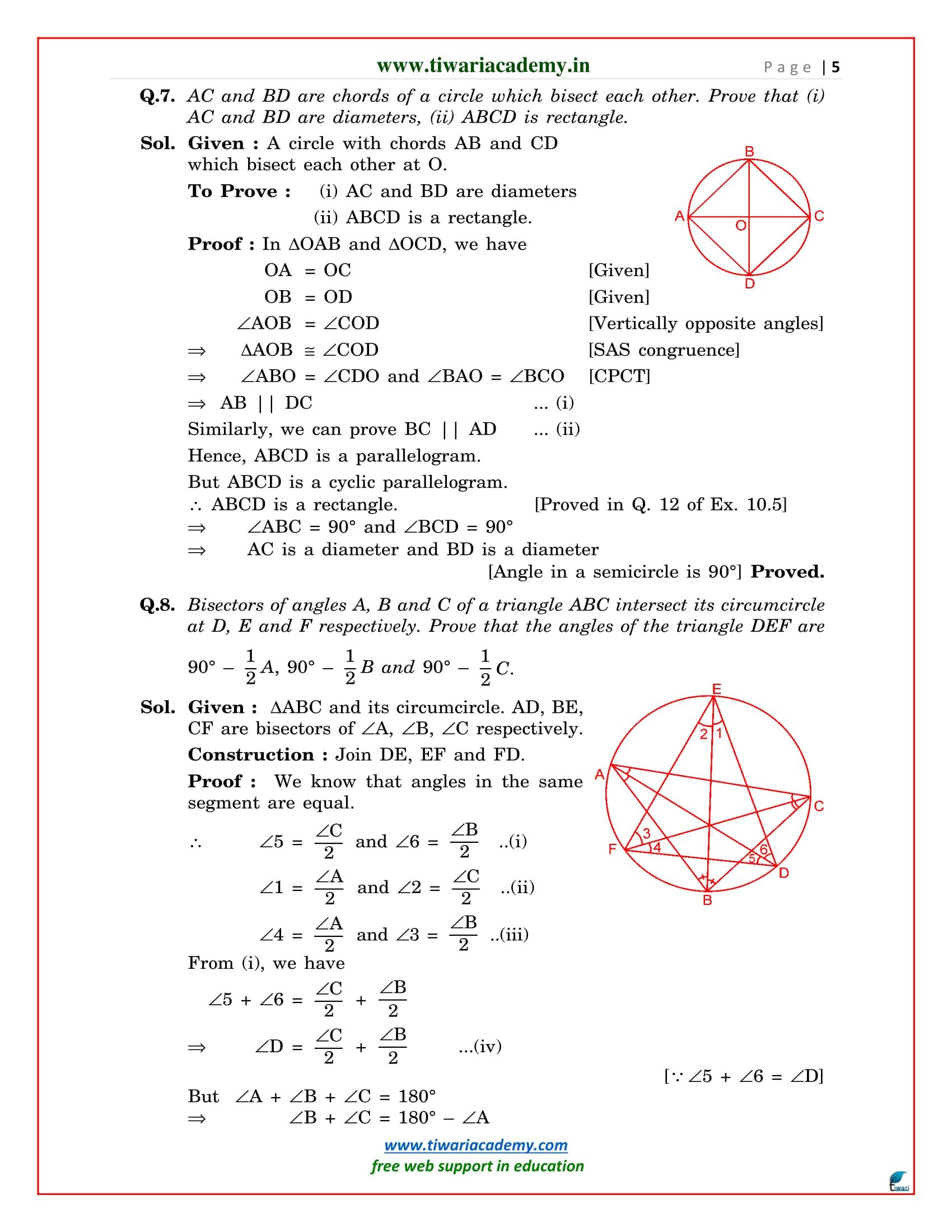 9 maths solutions ex. 10.6