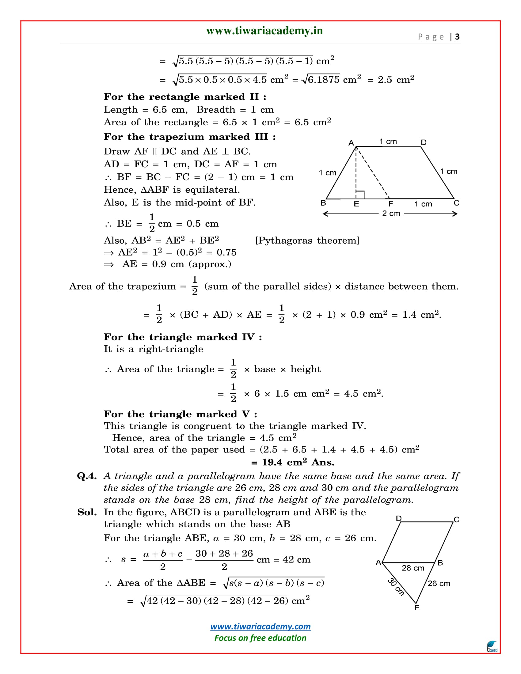 exercise 12.2 maths class 9 solutions