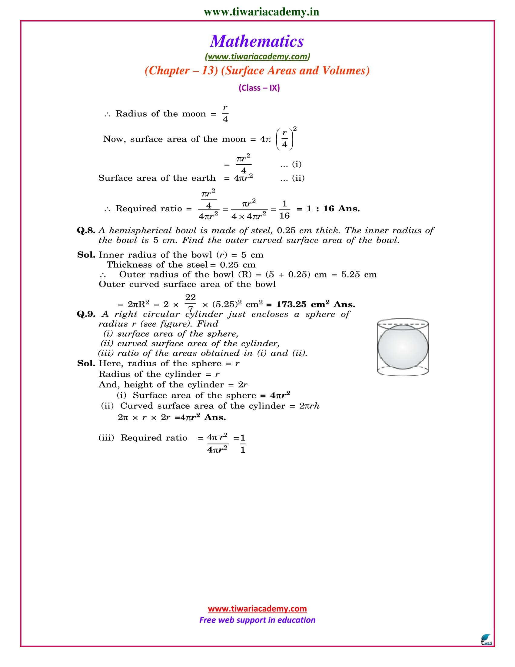 9 maths chapter 13.4 ncert solutions