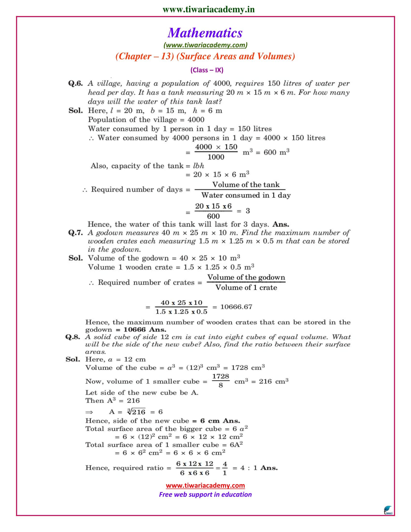 class 9 maths chapter 13.5