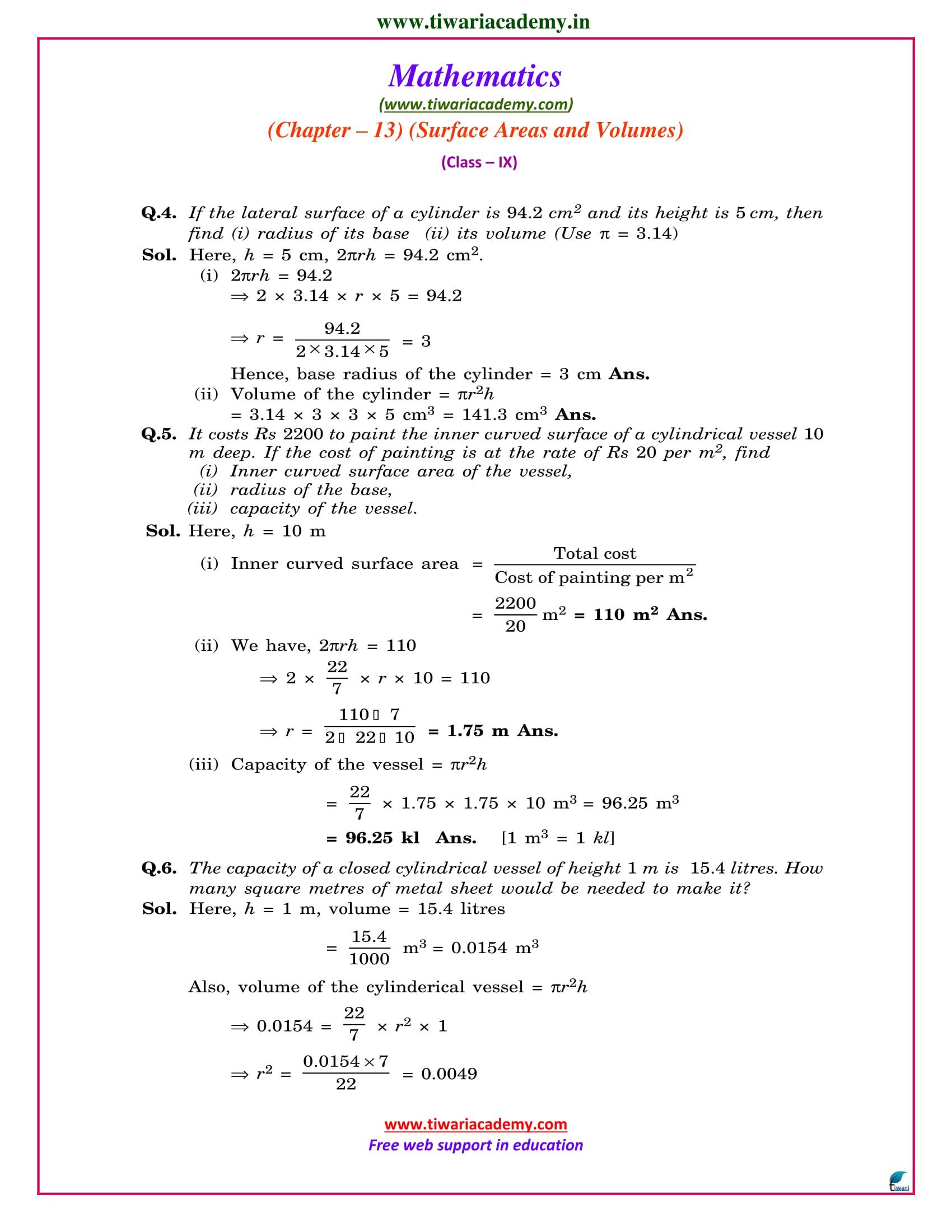 9 maths chapter 13.6 ncert solutions