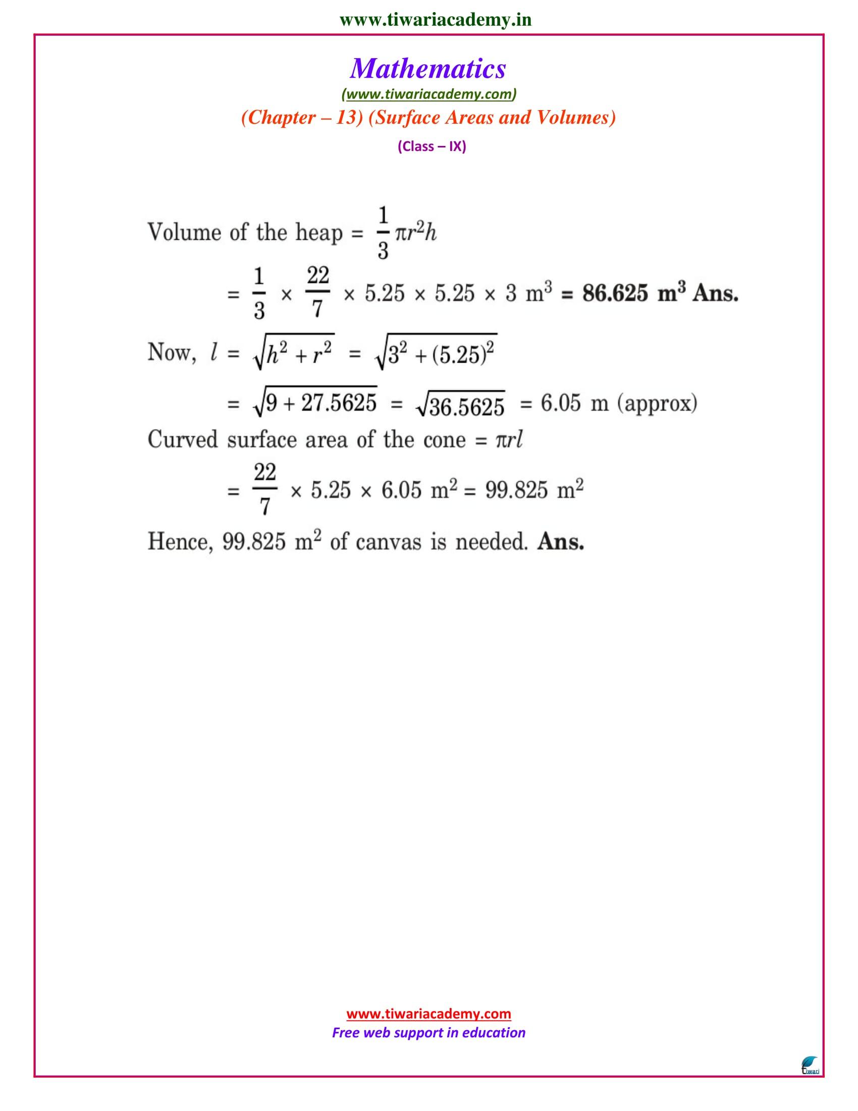 NCERT solutions class 9 maths exercise 13.7