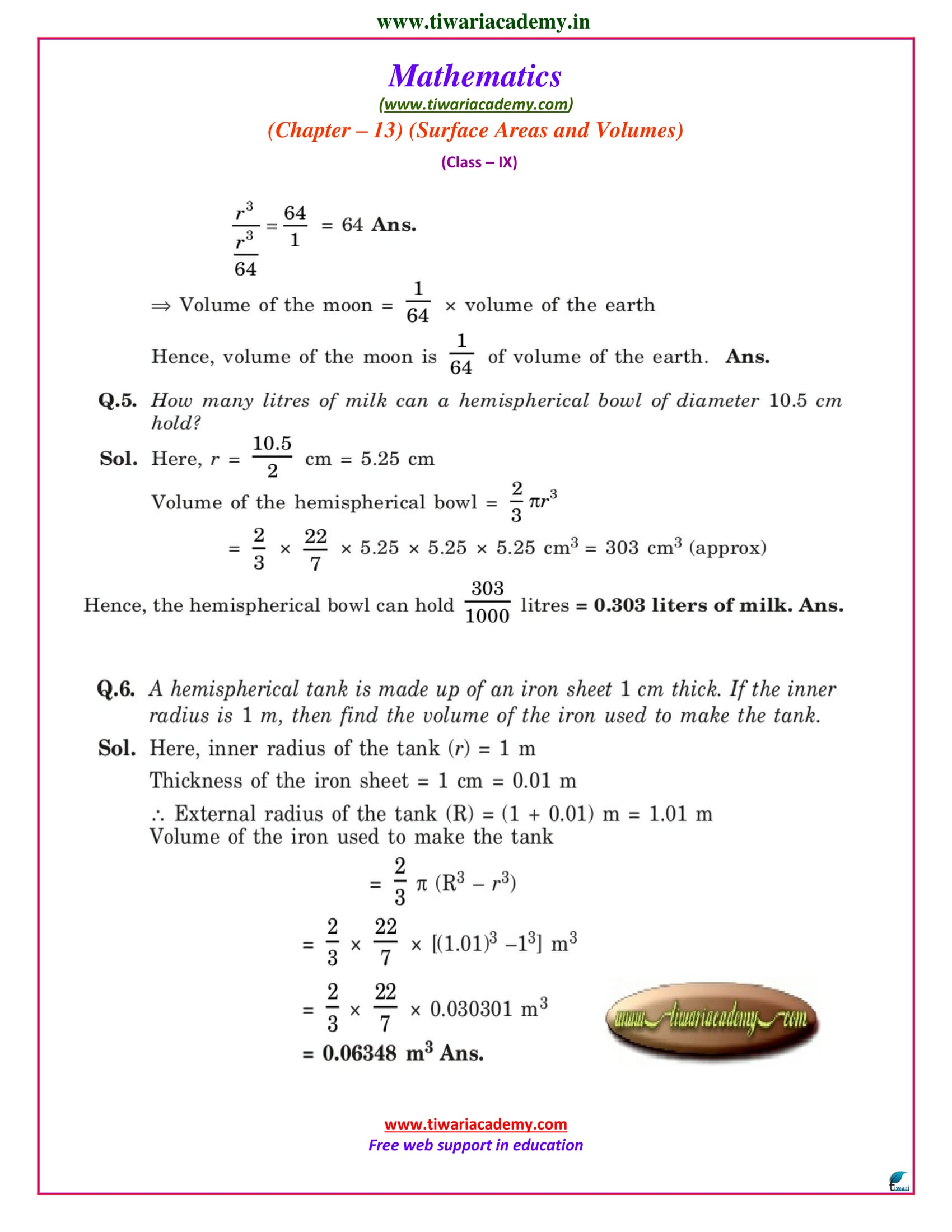 class ix maths solutions exercise 13.8 pdf