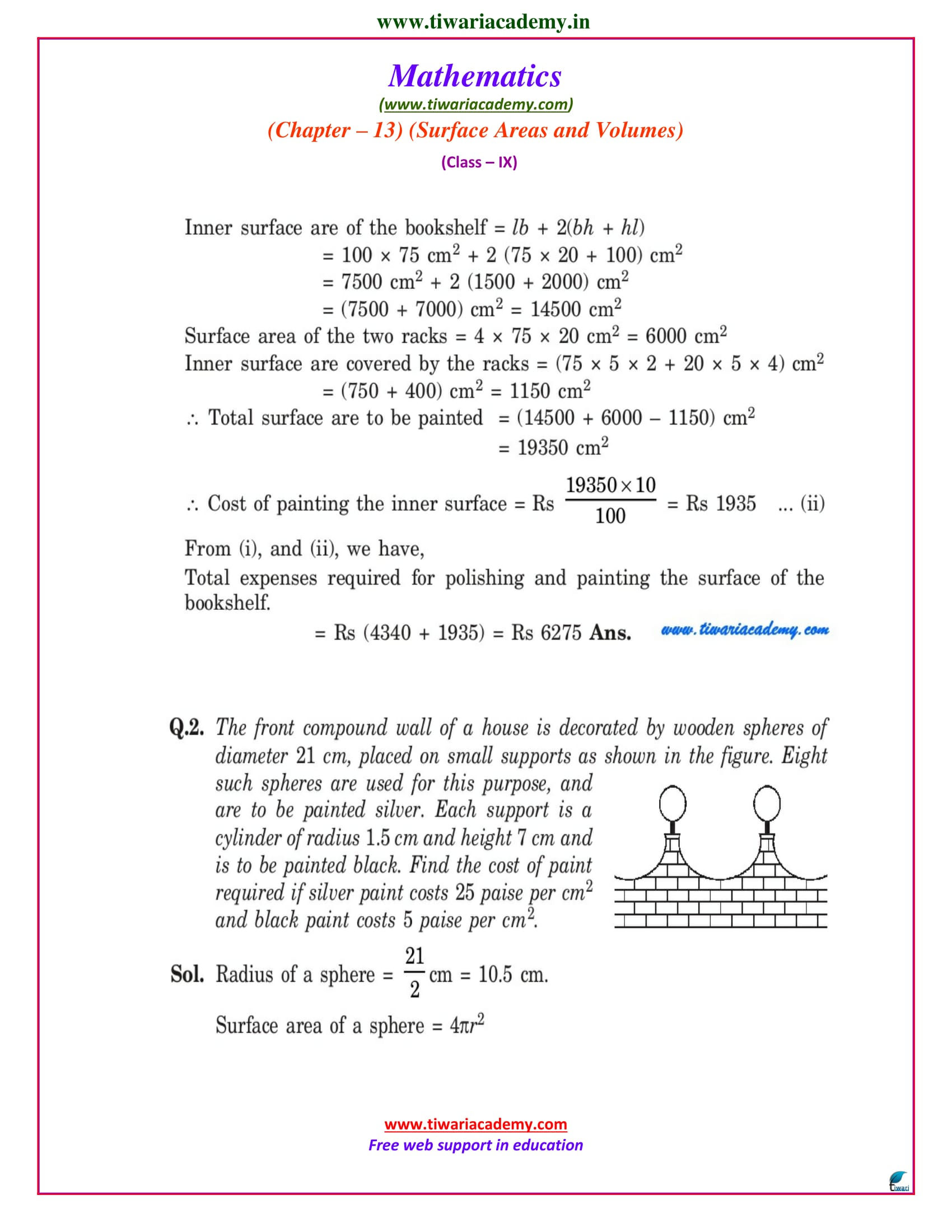 NCERT Solutions for Class 9 Maths Chapter 13 Exercise 13.9