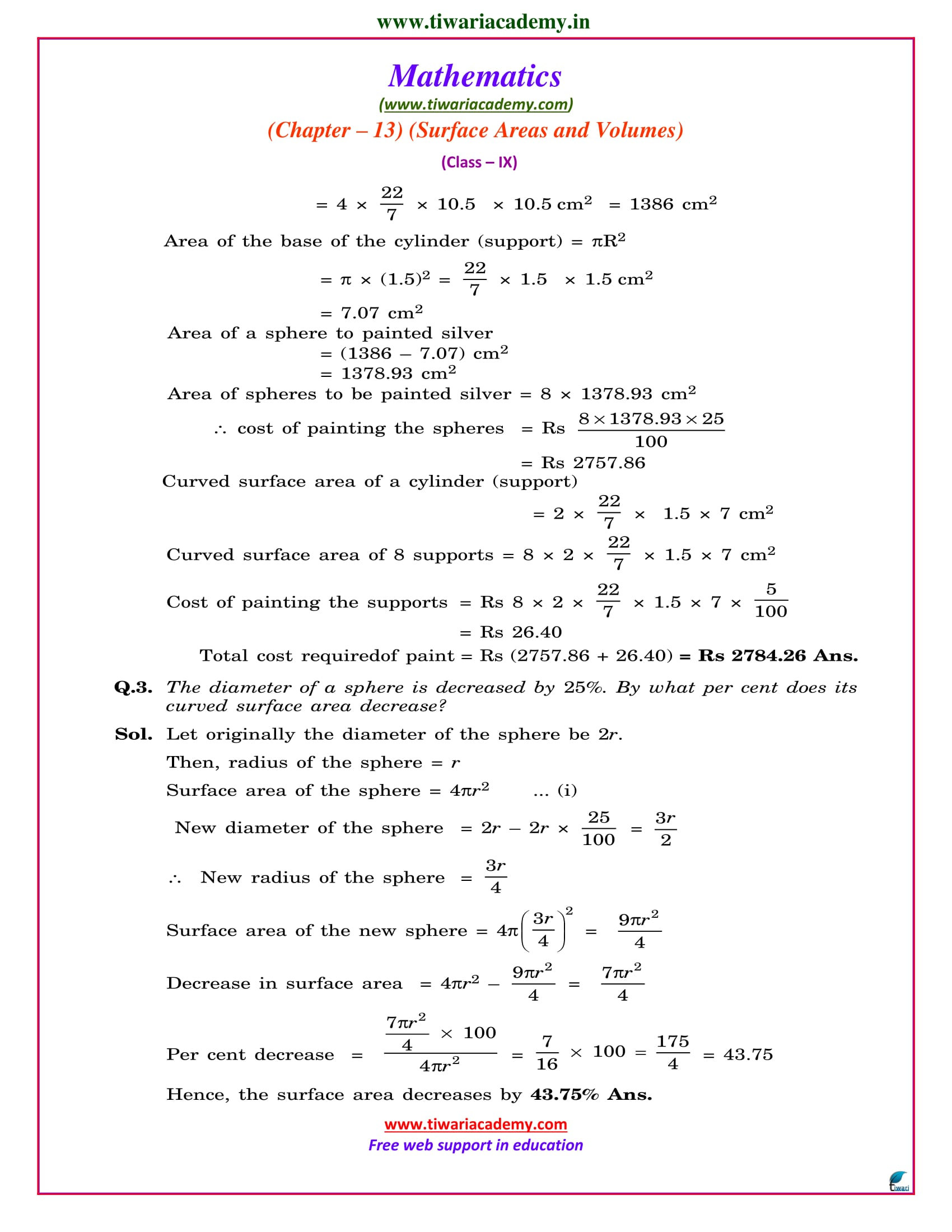 9 maths chapter 13 optional exercise solutions