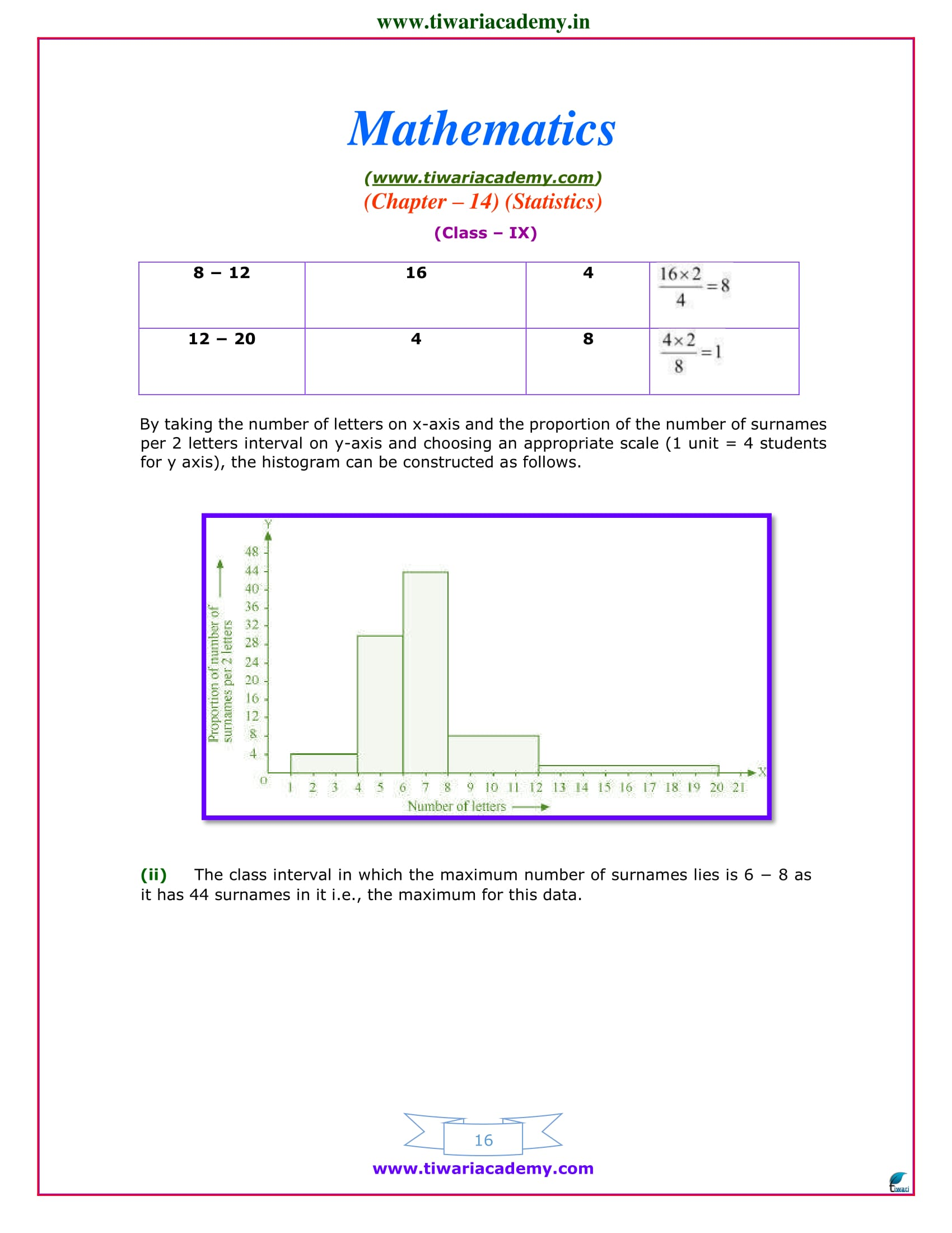 9 maths chapter 14 exercise 14.3 solutions ncert