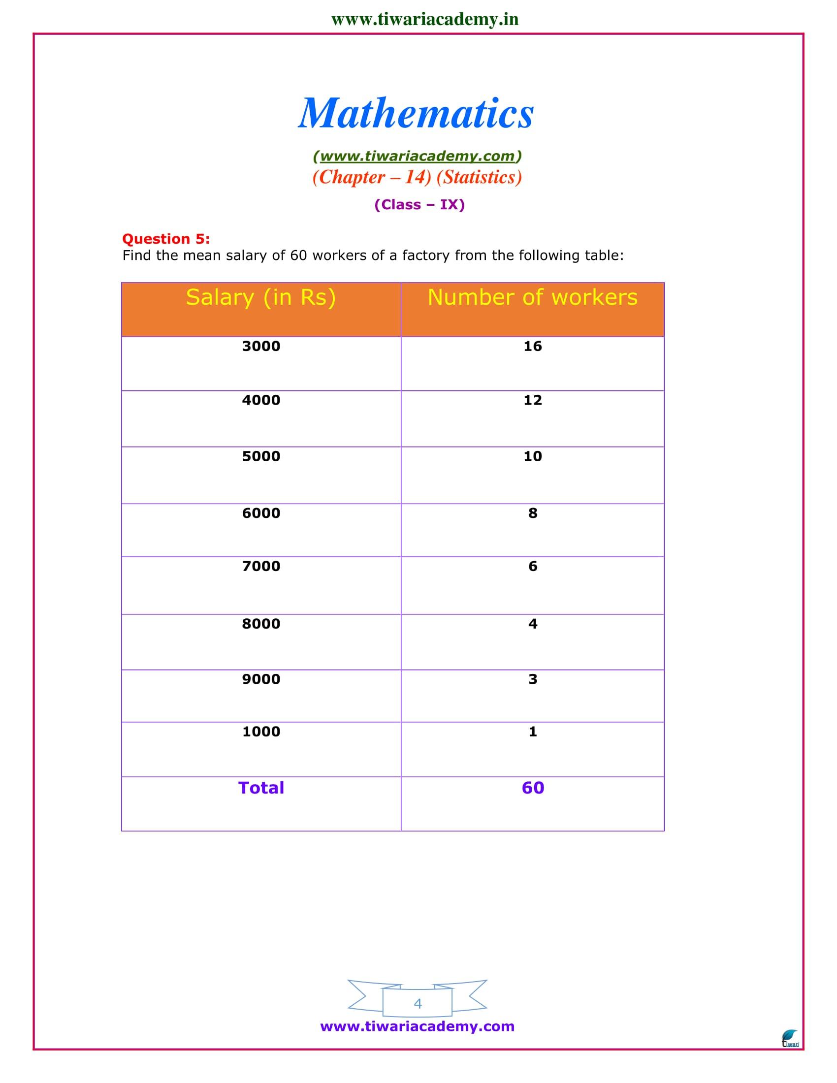 Class 9 Maths exercise 14.4 ncert sols