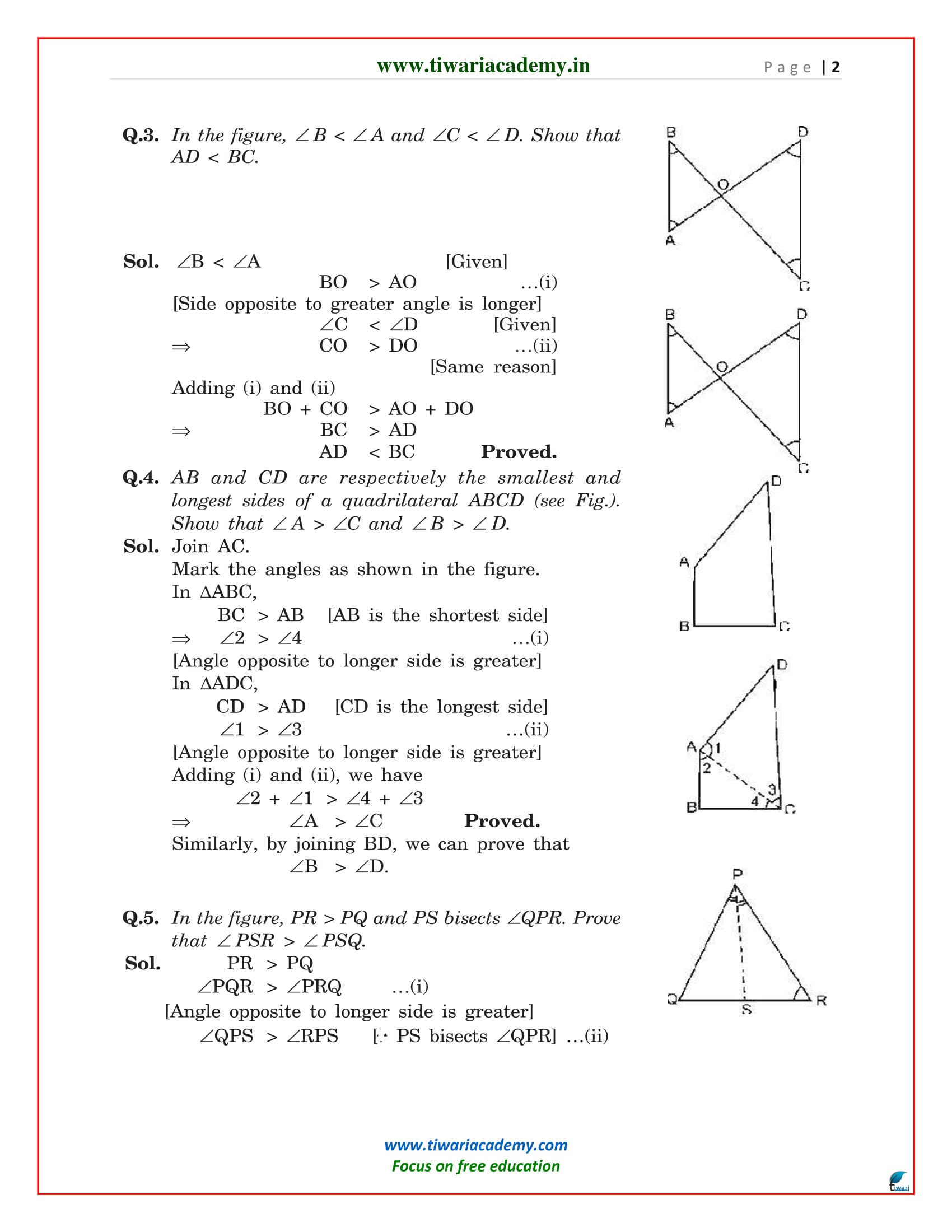 class 9 maths solutions exercise 7.4