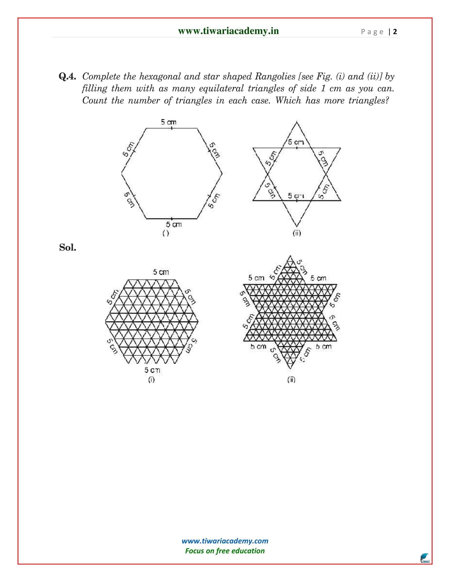 class 9 maths chapter 7 exercise 7.5 optional