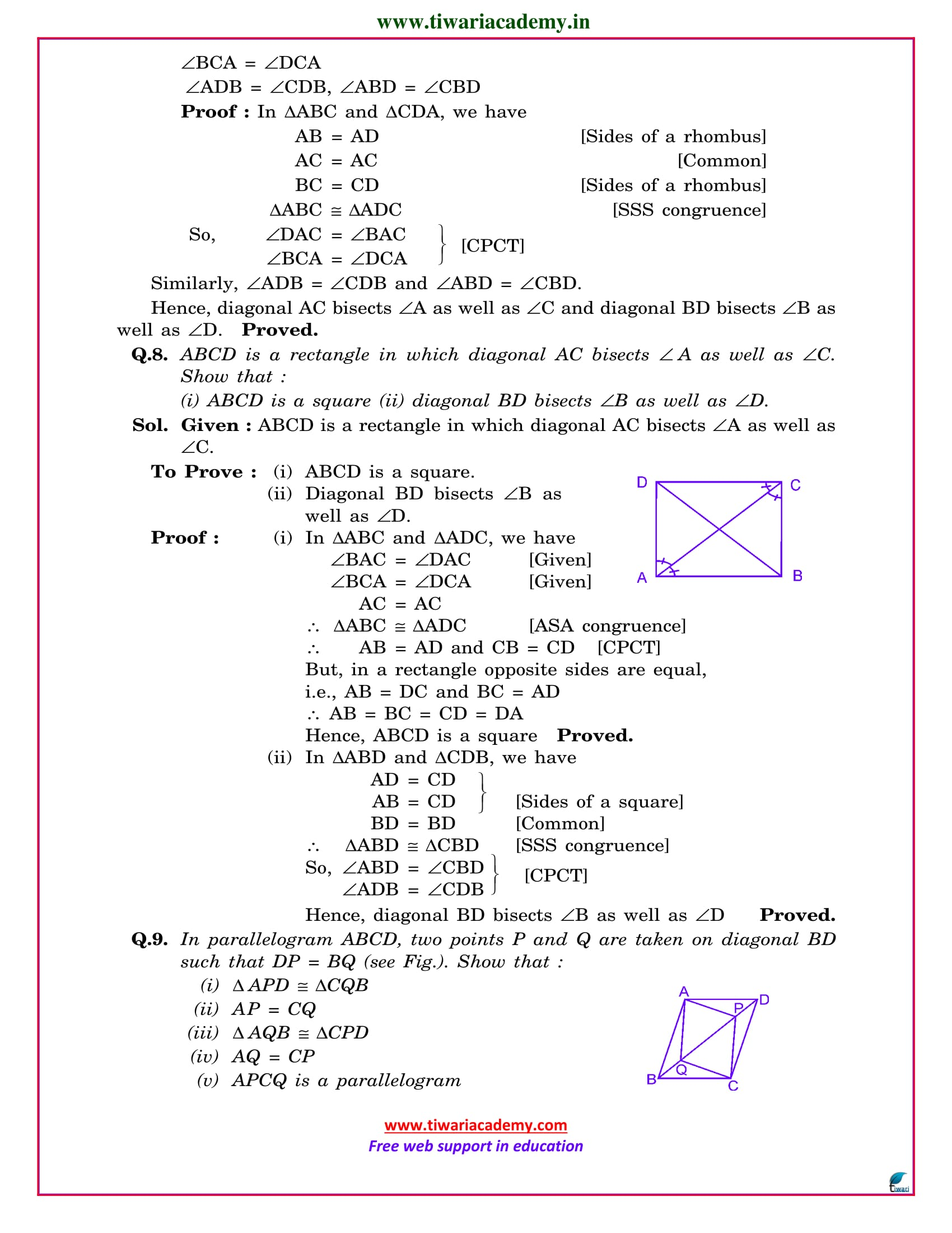 class 9 maths exercise 8.1 solutions