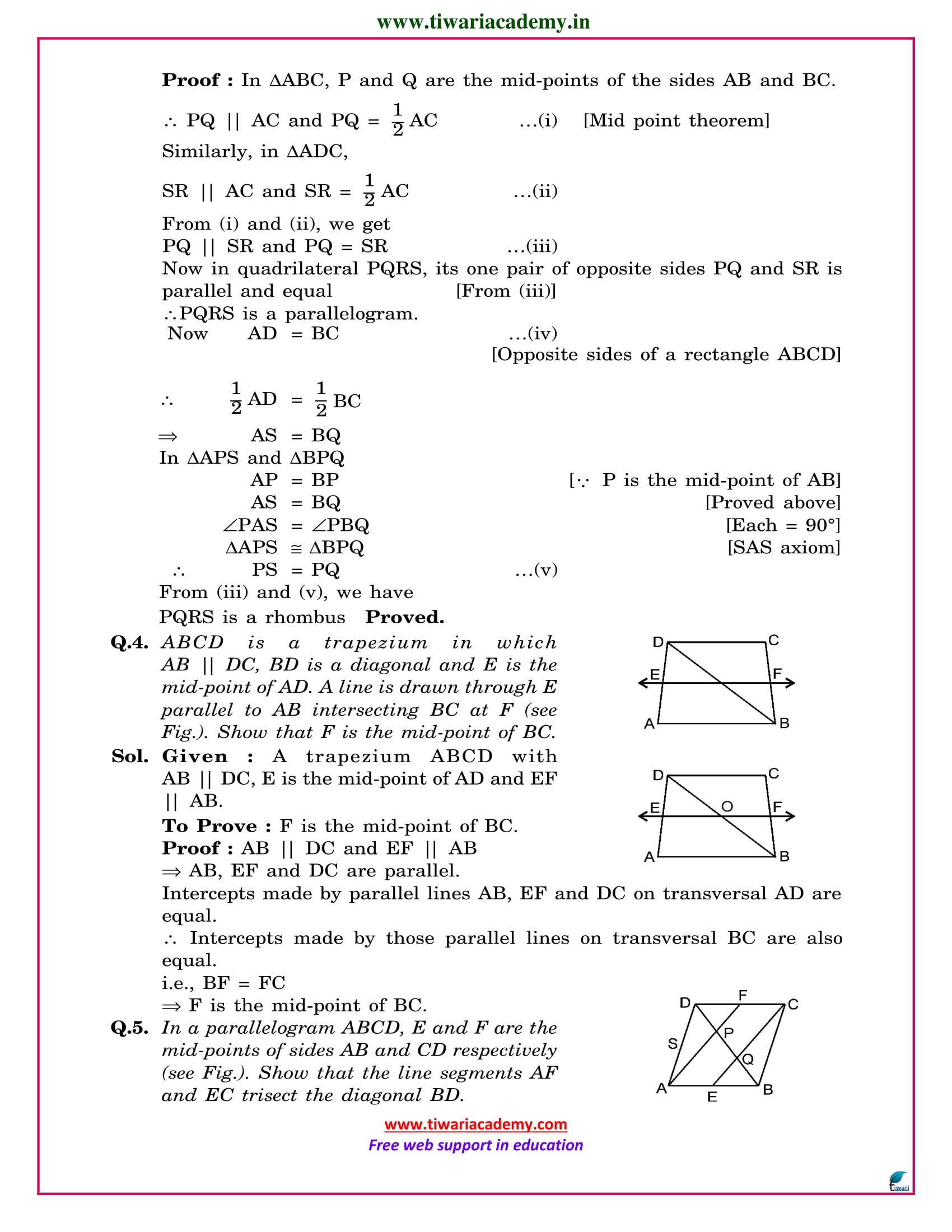 class 9 maths ex. 8.2 all questions solutions