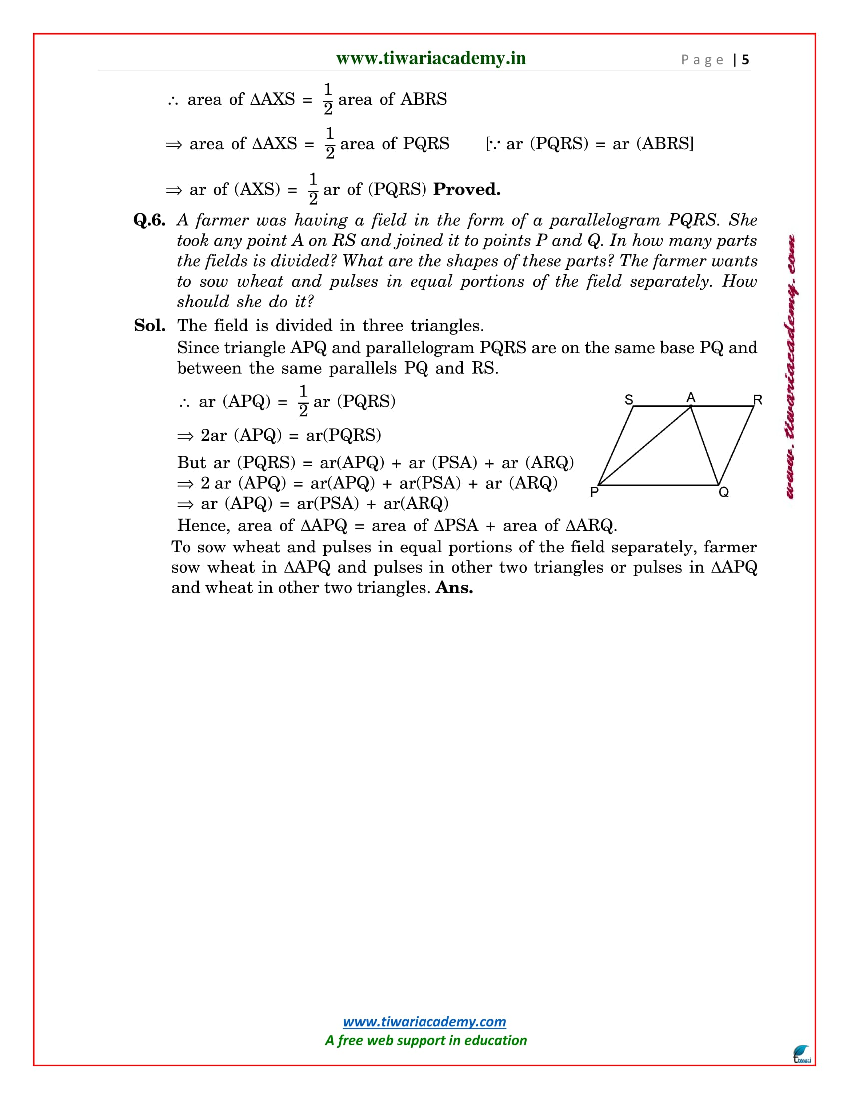 9 maths exercise 9.2 solutions
