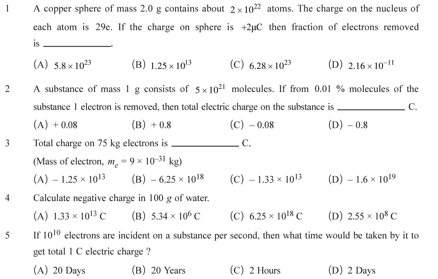 Class 12 Physics Chapter 1 NEET, JEE Mains - 1