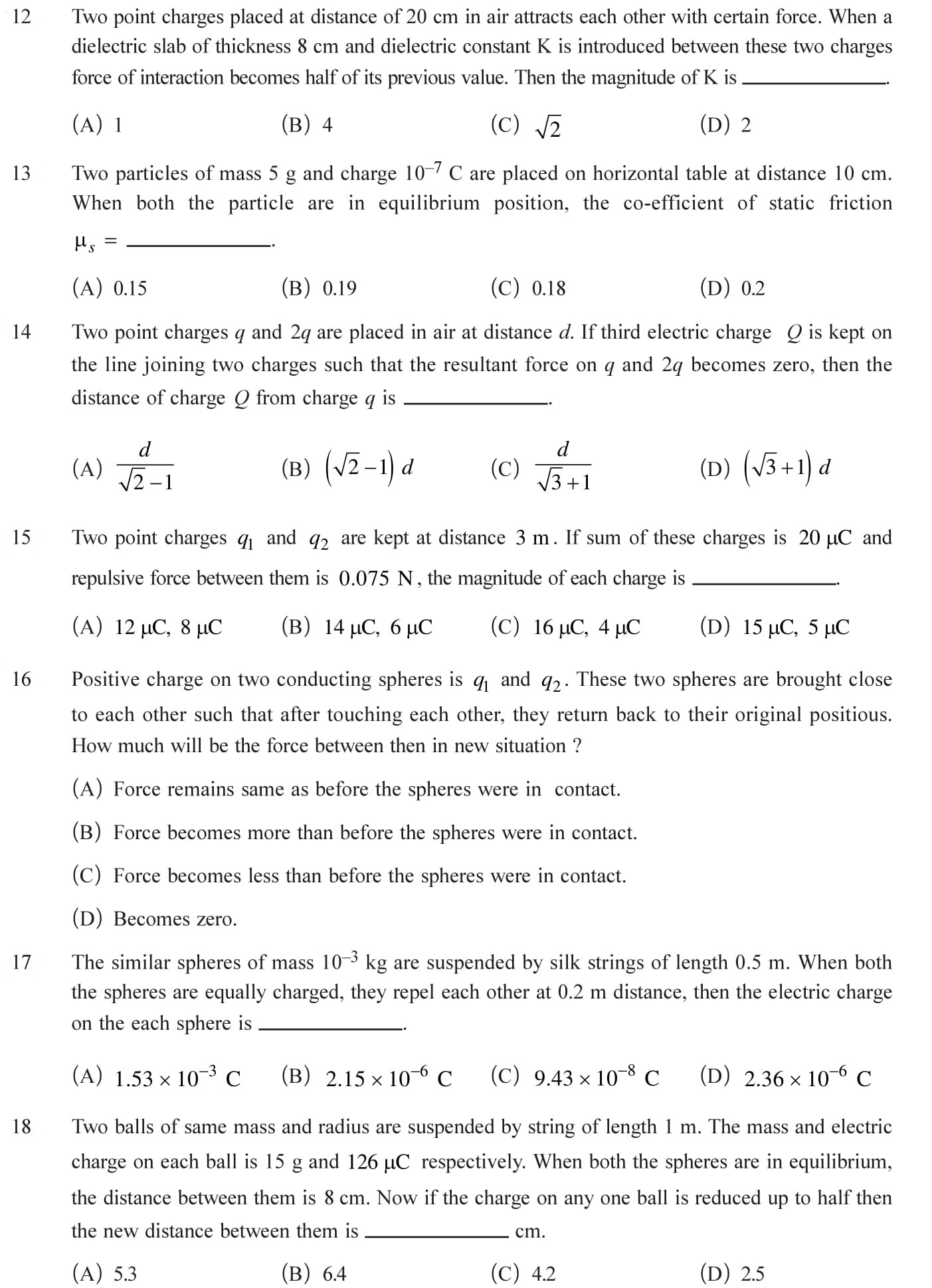 Class 12 Physics Chapter 1 NEET, JEE Mains - 4