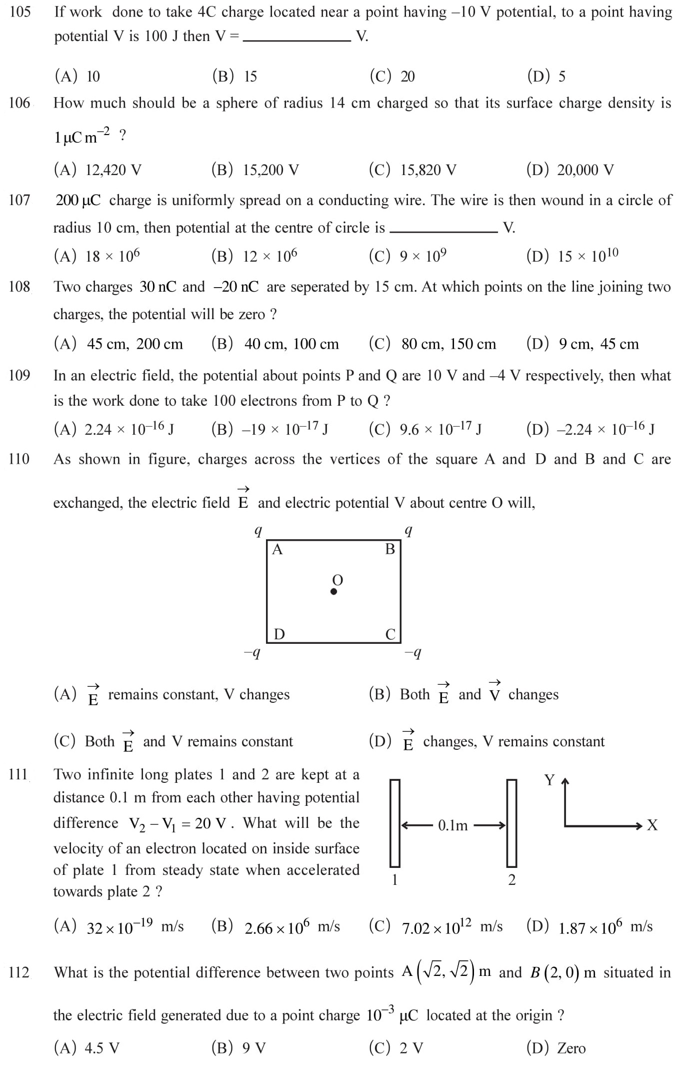 12 Physics Chapter 2 Electrostatic potential NEET & JEE Questions-1