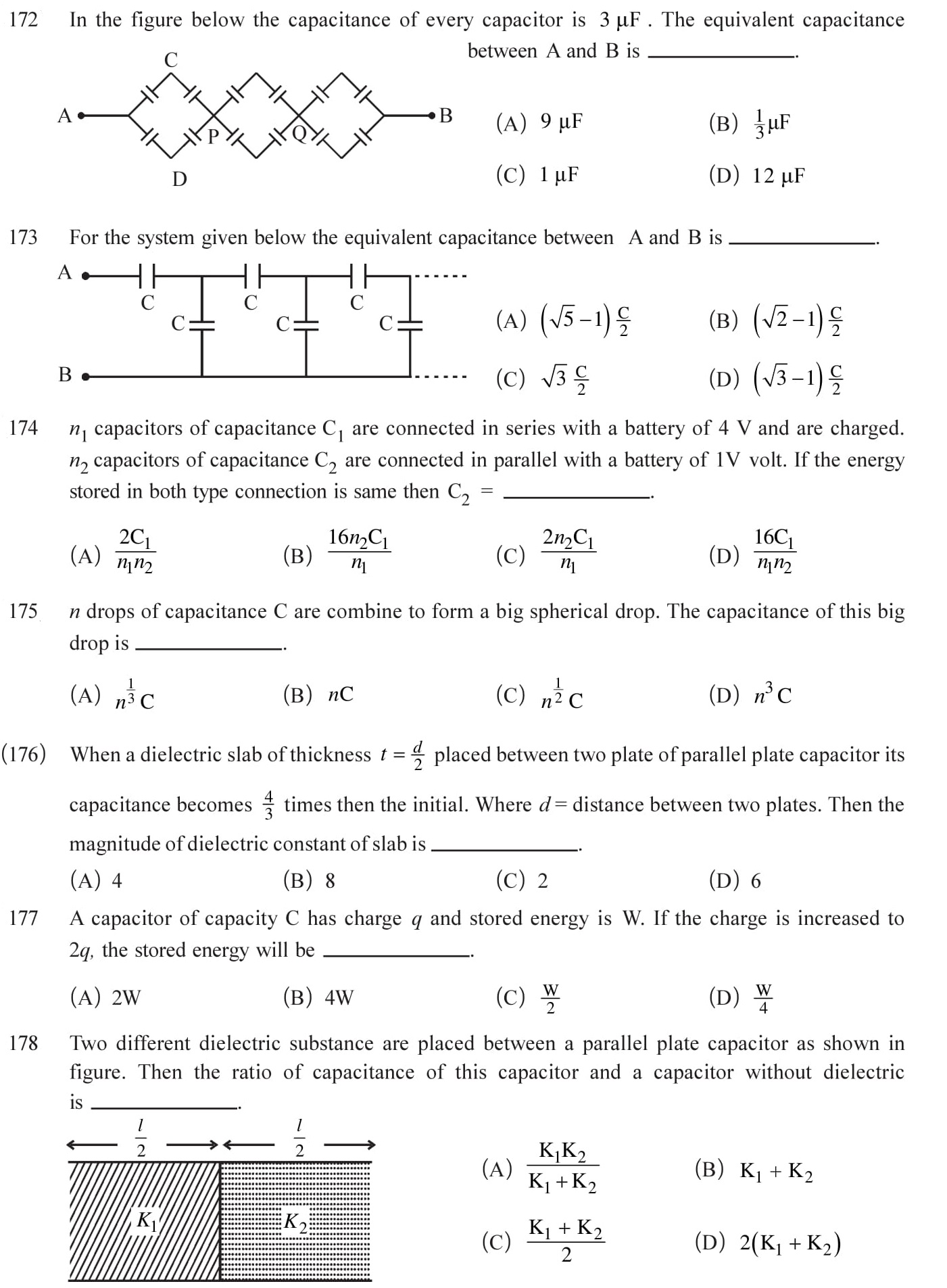 12 Physics Chapter 2 Electrostatic potential NEET & JEE Questions-11