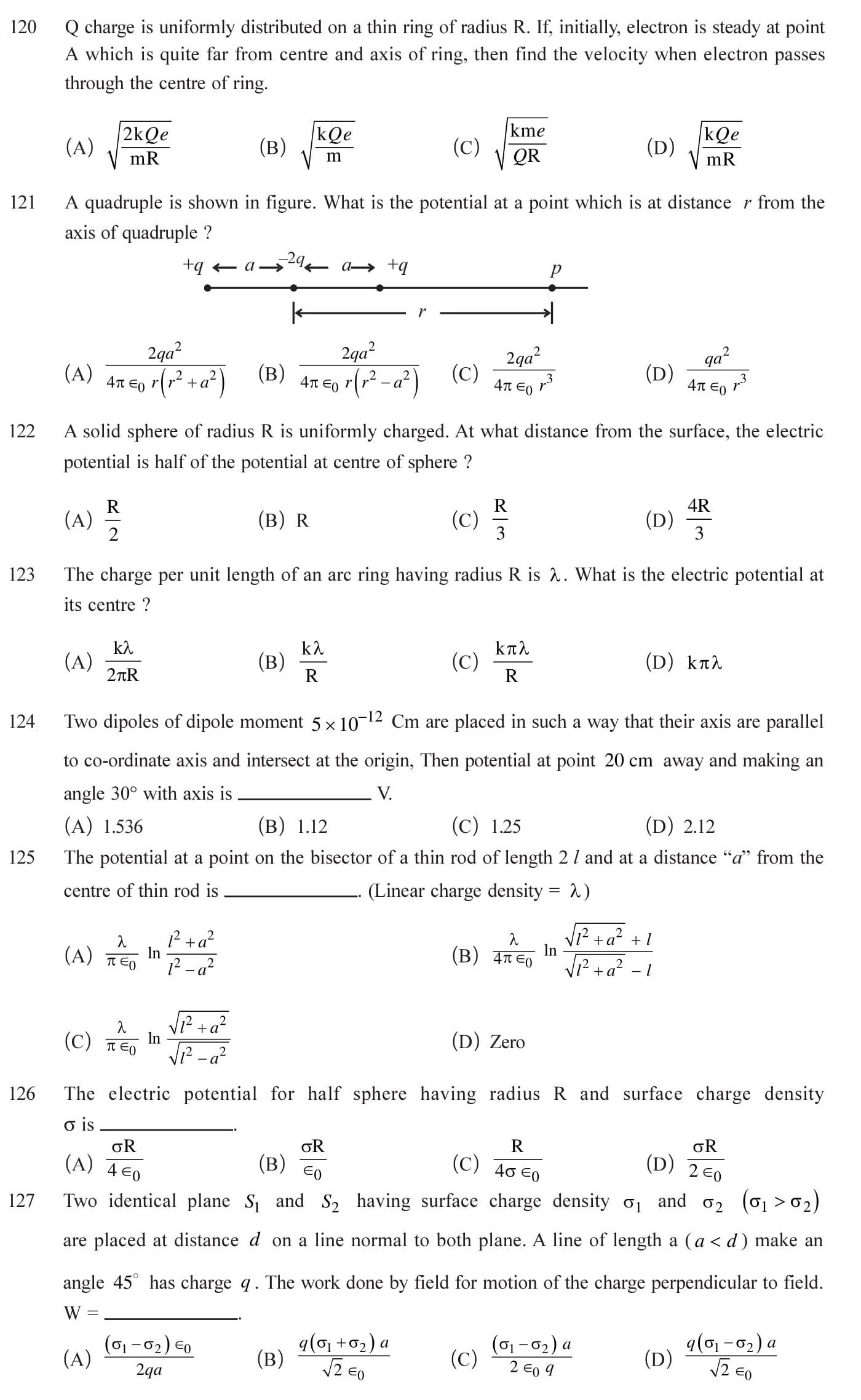 12 Physics Chapter 2 Electrostatic potential NEET & JEE Questions-3