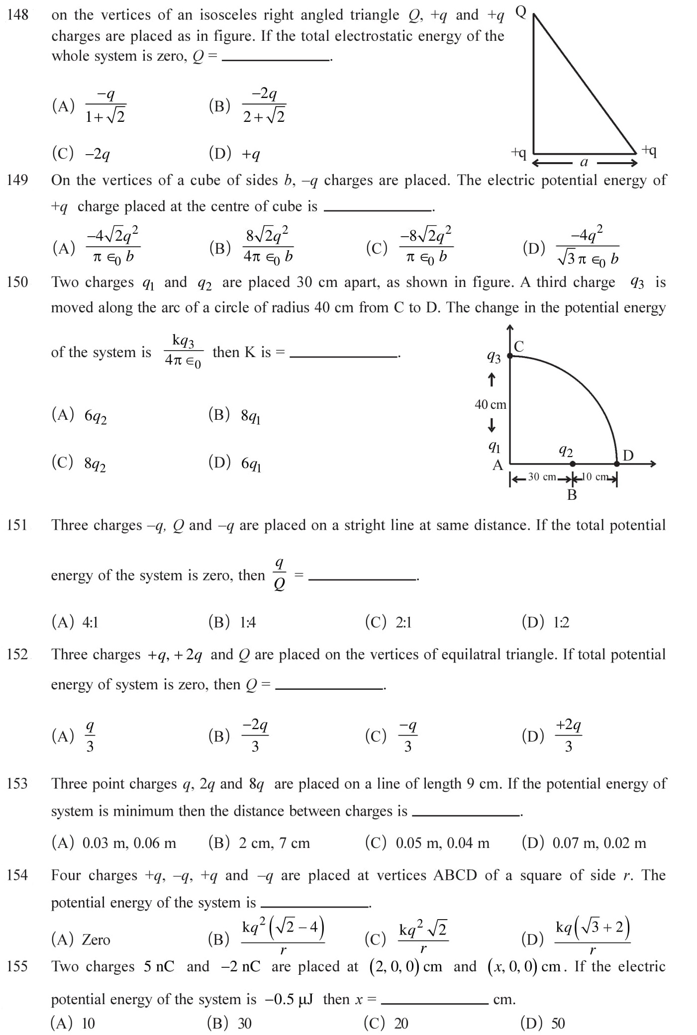 12 Physics Chapter 2 Electrostatic potential NEET & JEE Questions-7